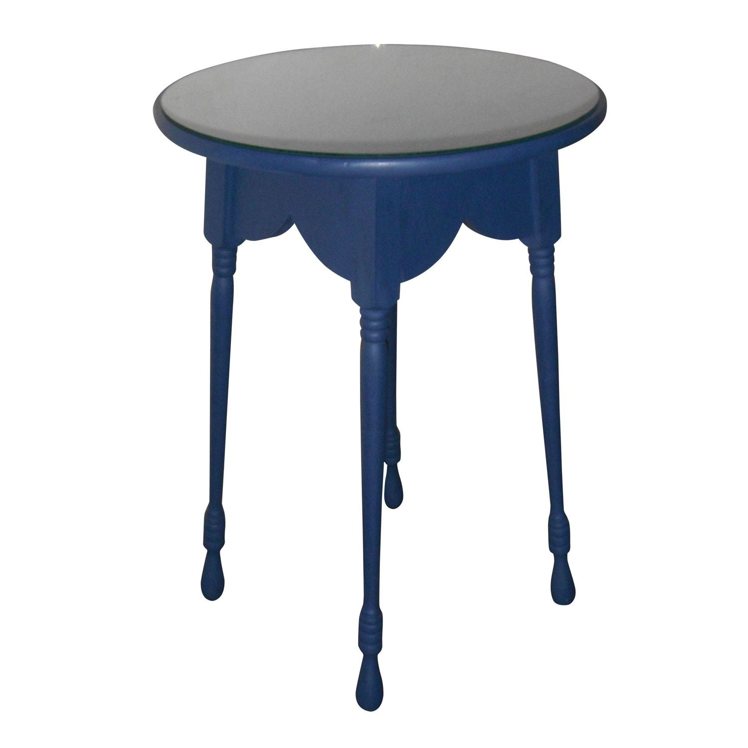 Image Of French Country Round Butler Accent Table