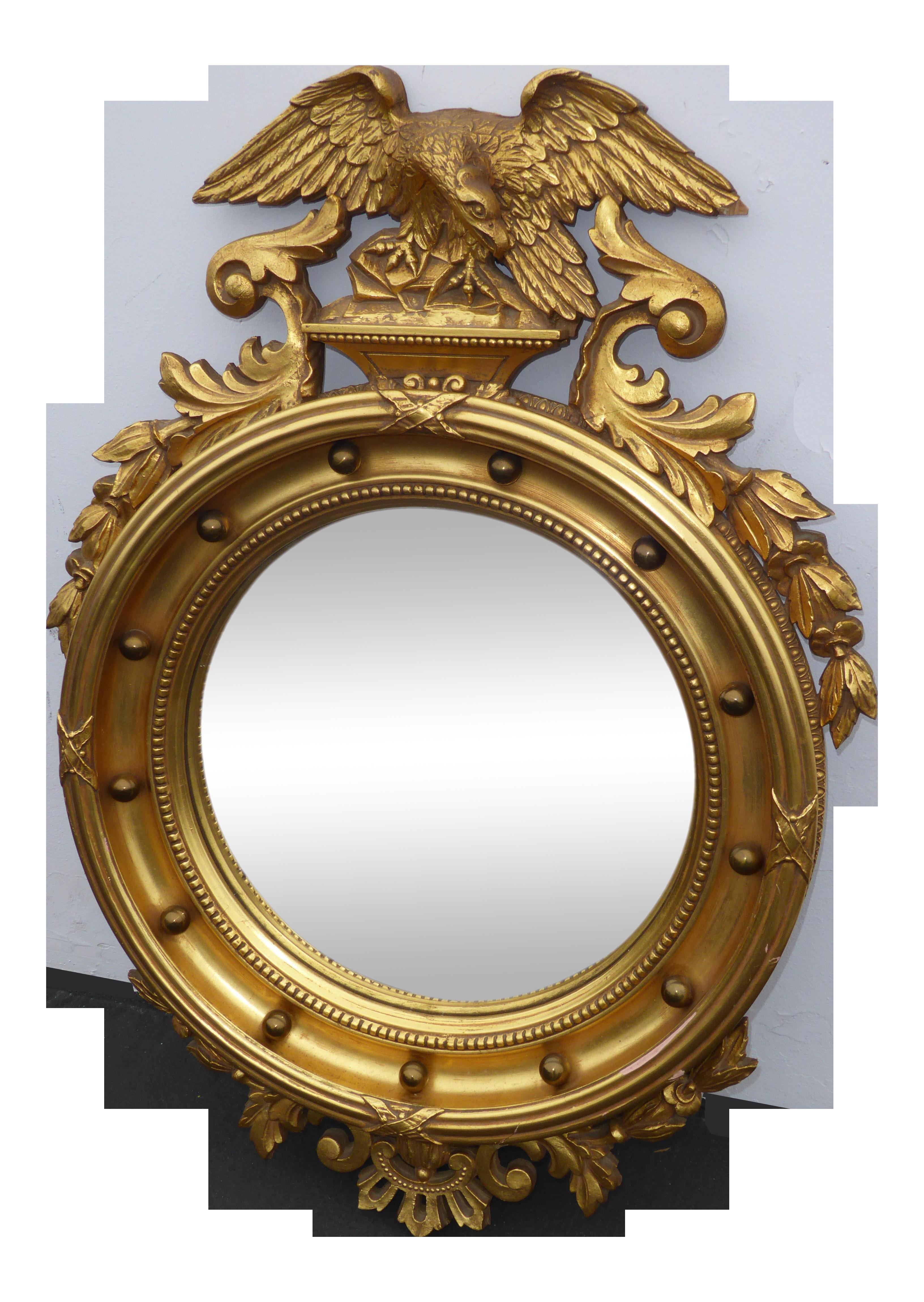 Antique federal solid wood bullseye eagle convex wall mirror 13 antique federal solid wood bullseye eagle convex wall mirror 13 colonies chairish amipublicfo Gallery
