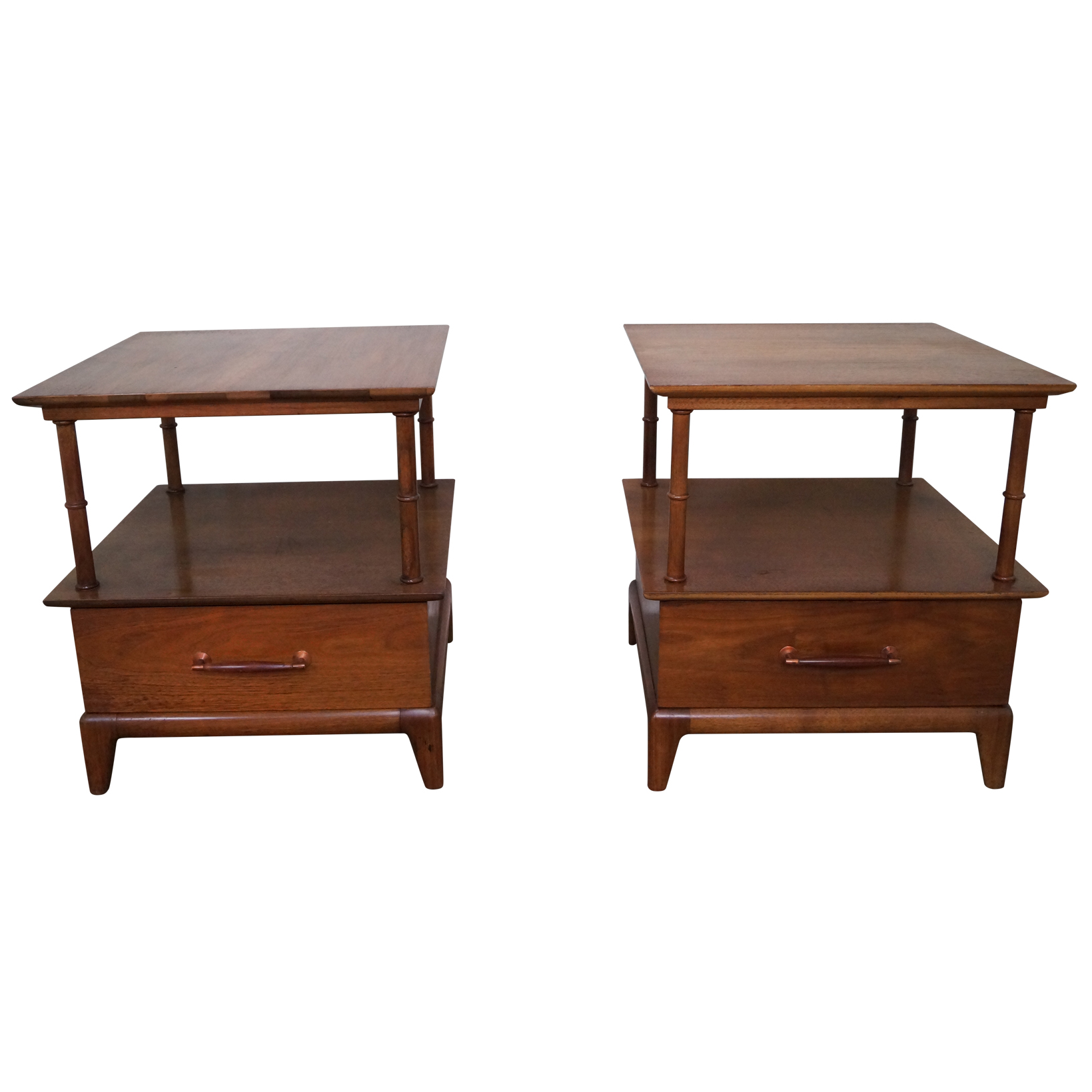 Heritage Henredon Mid Century End Tables