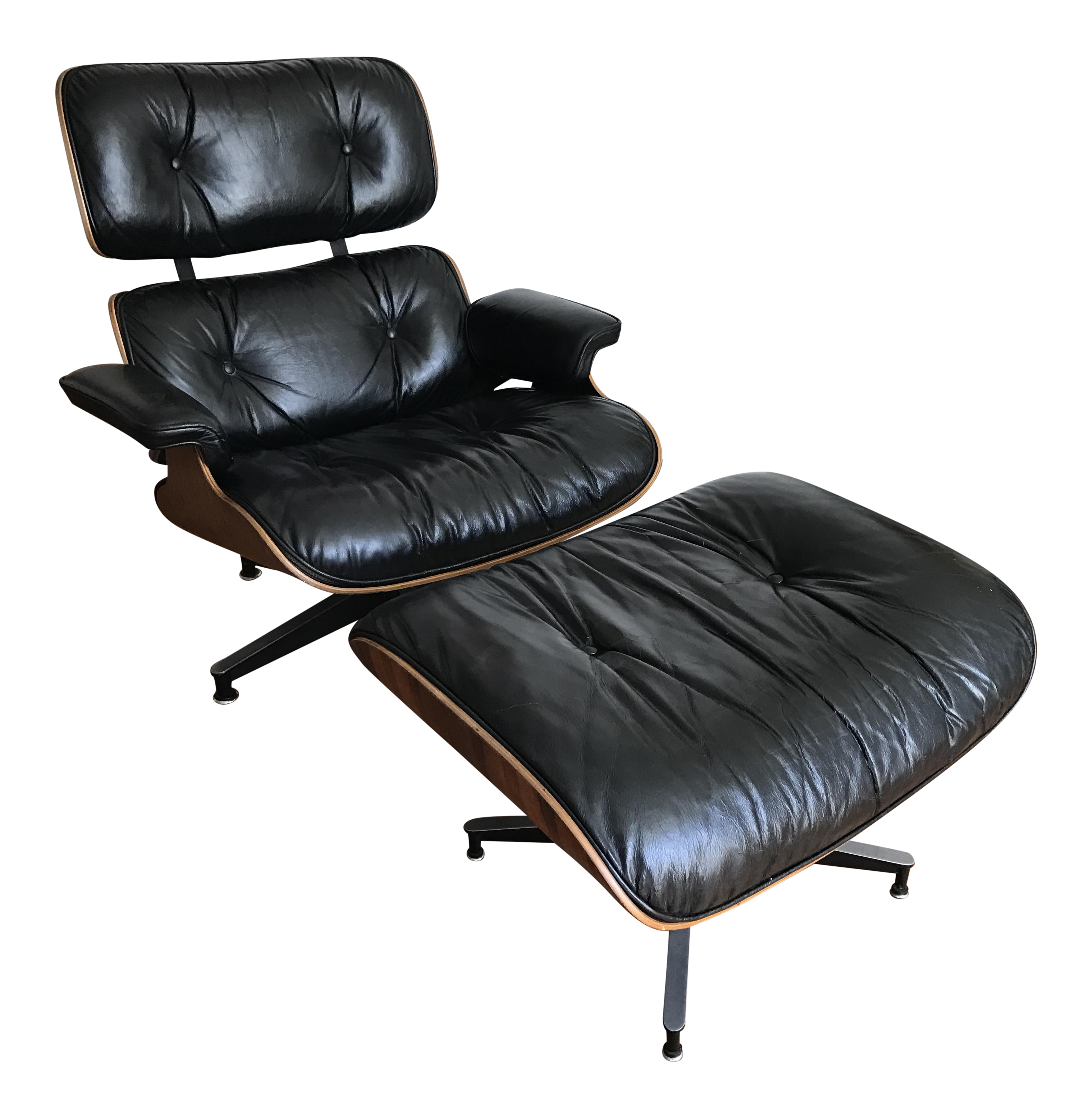 Vintage Charles And Ray Eames Rosewood Lounge Chair
