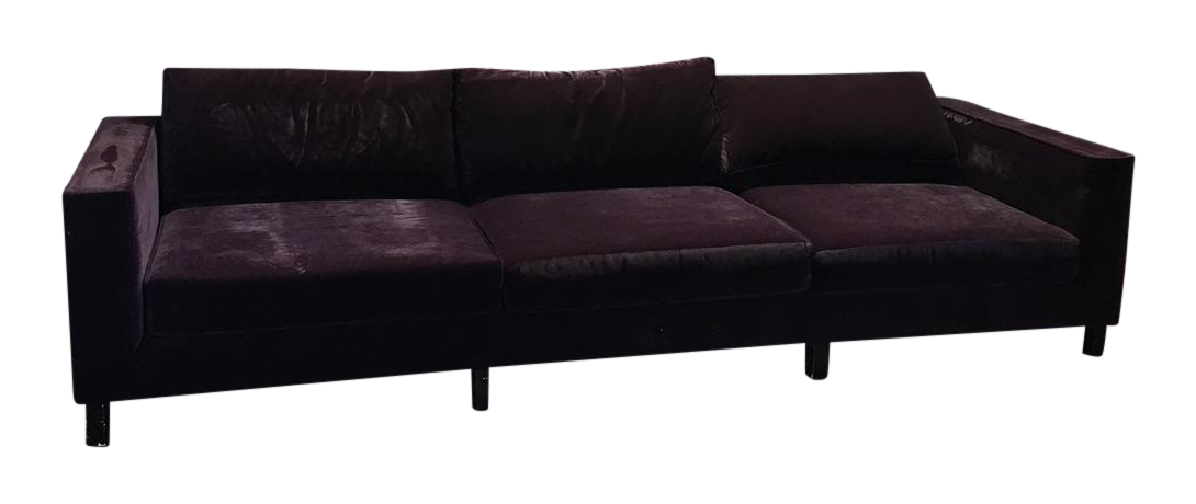 Dialogica Purple Velvet 10 Foot Custom Made Sofa Chairish