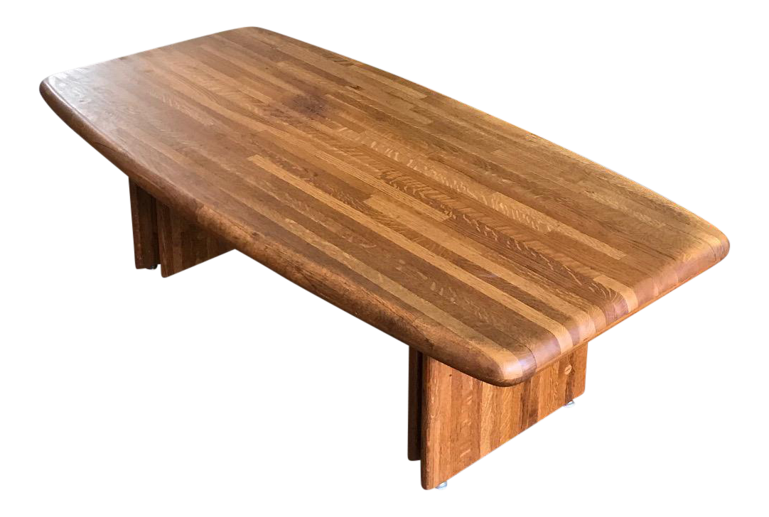 Vintage Butcher Block Coffee Table Chairish