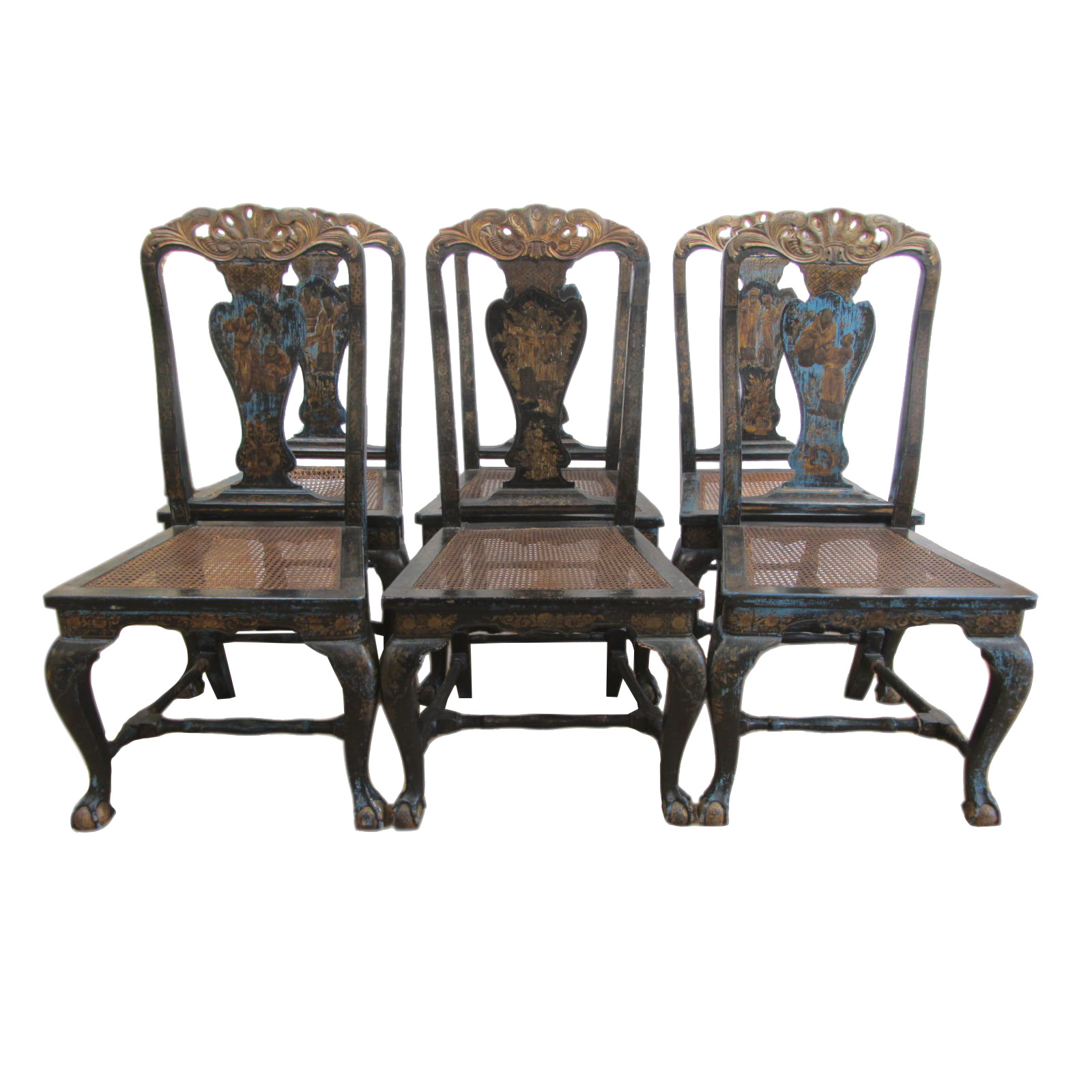Antique Chinese Chippendale Chairs Set Of 6 Chairish