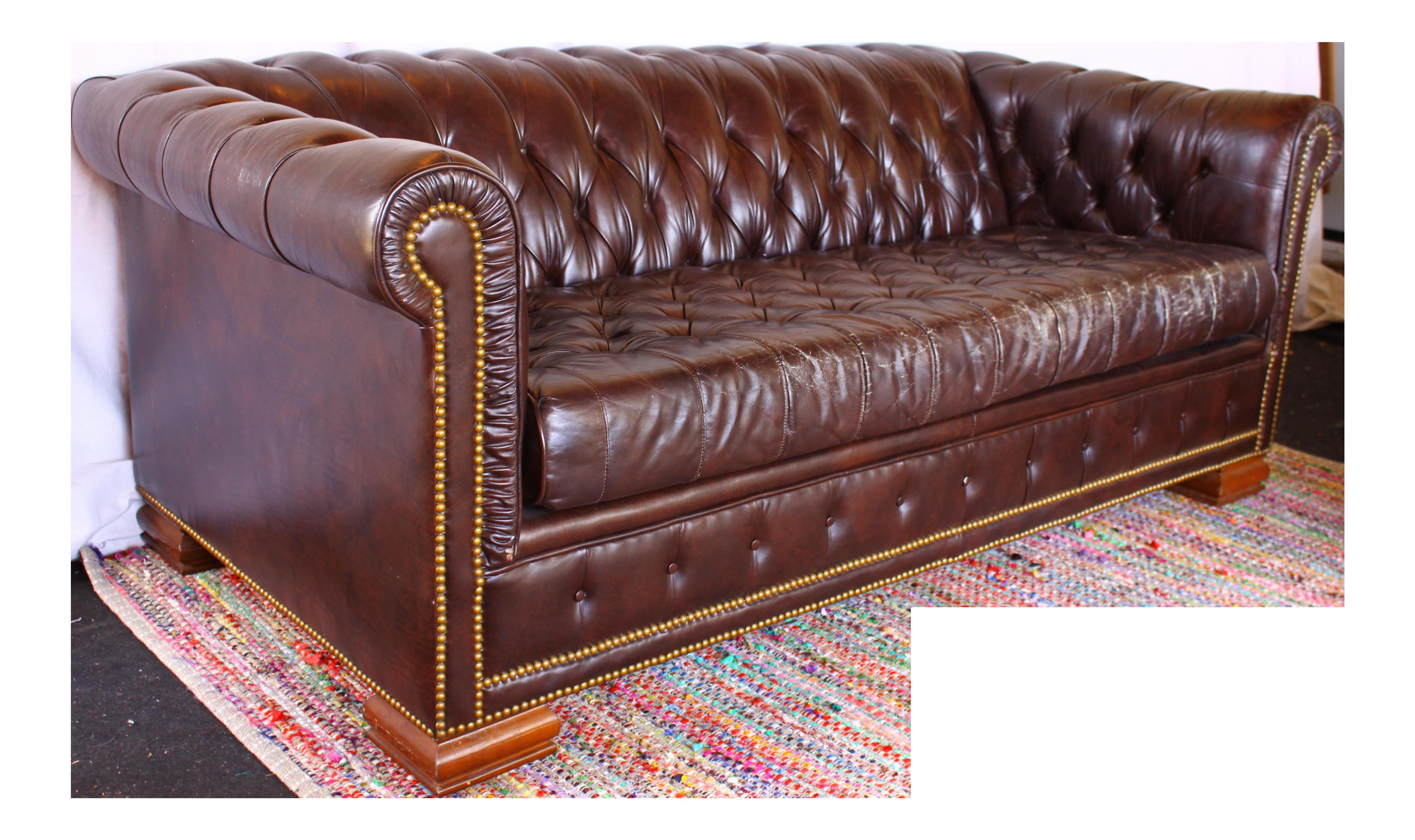 Vintage Schafer Bros Chesterfield Sofa