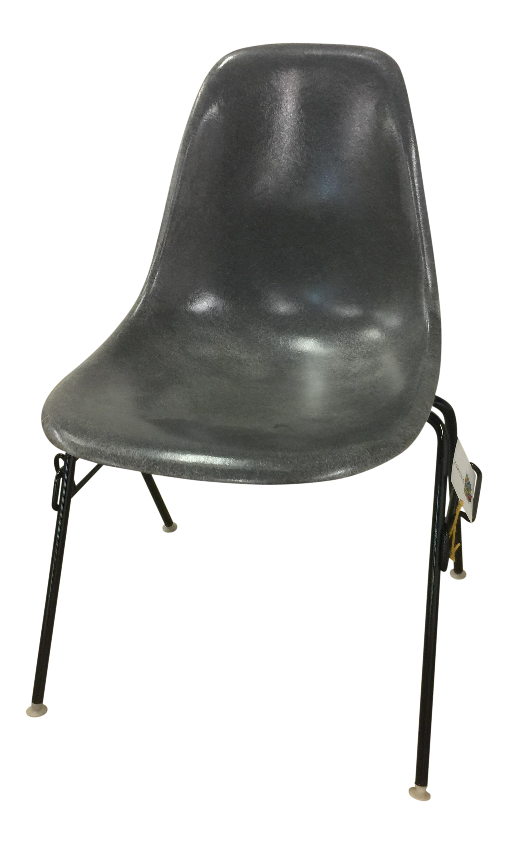 eames elephant gray shell chair chairish. Black Bedroom Furniture Sets. Home Design Ideas