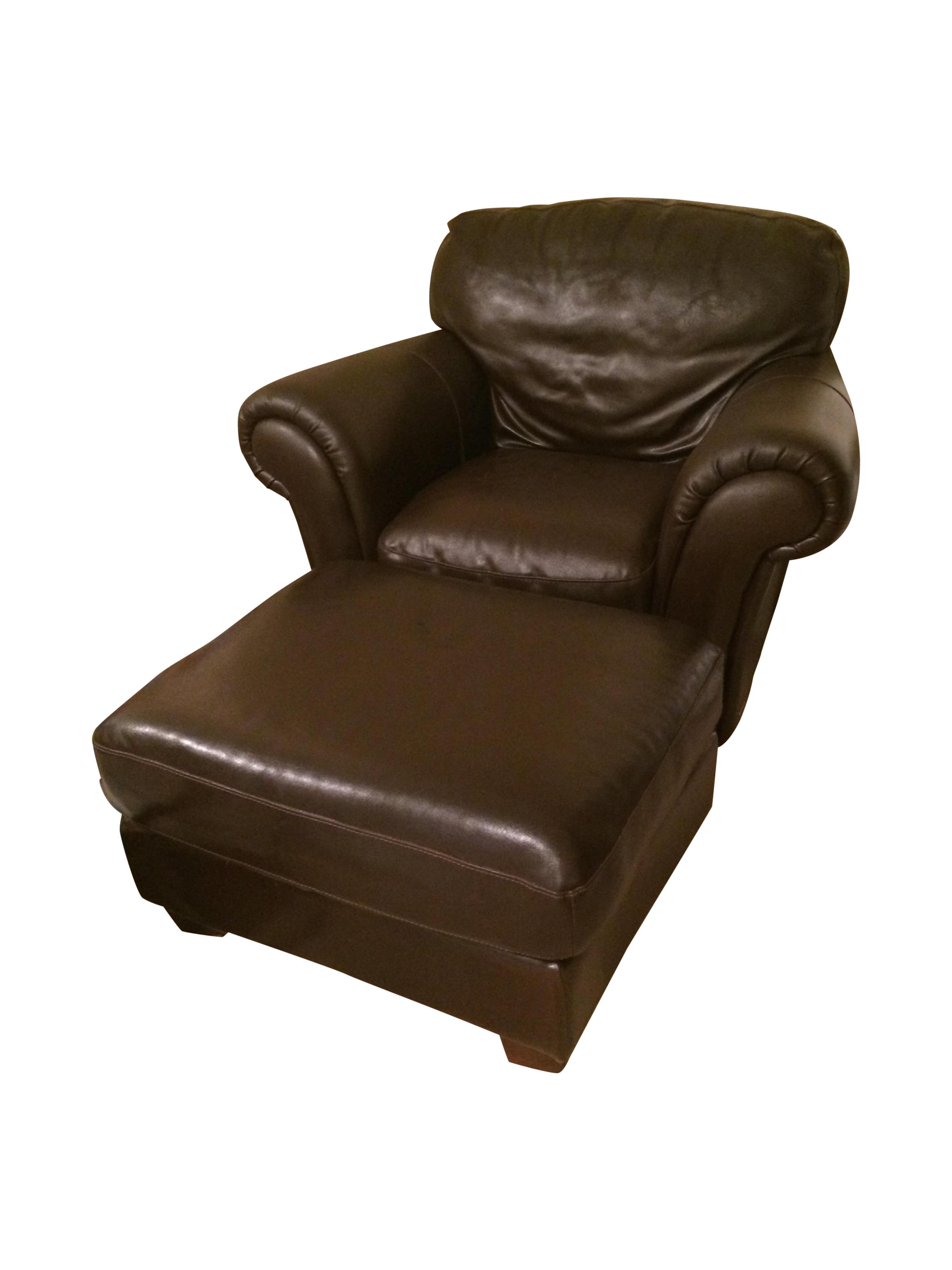 Natuzzi Italsofa Leather Chair And Ottoman Set Chairish