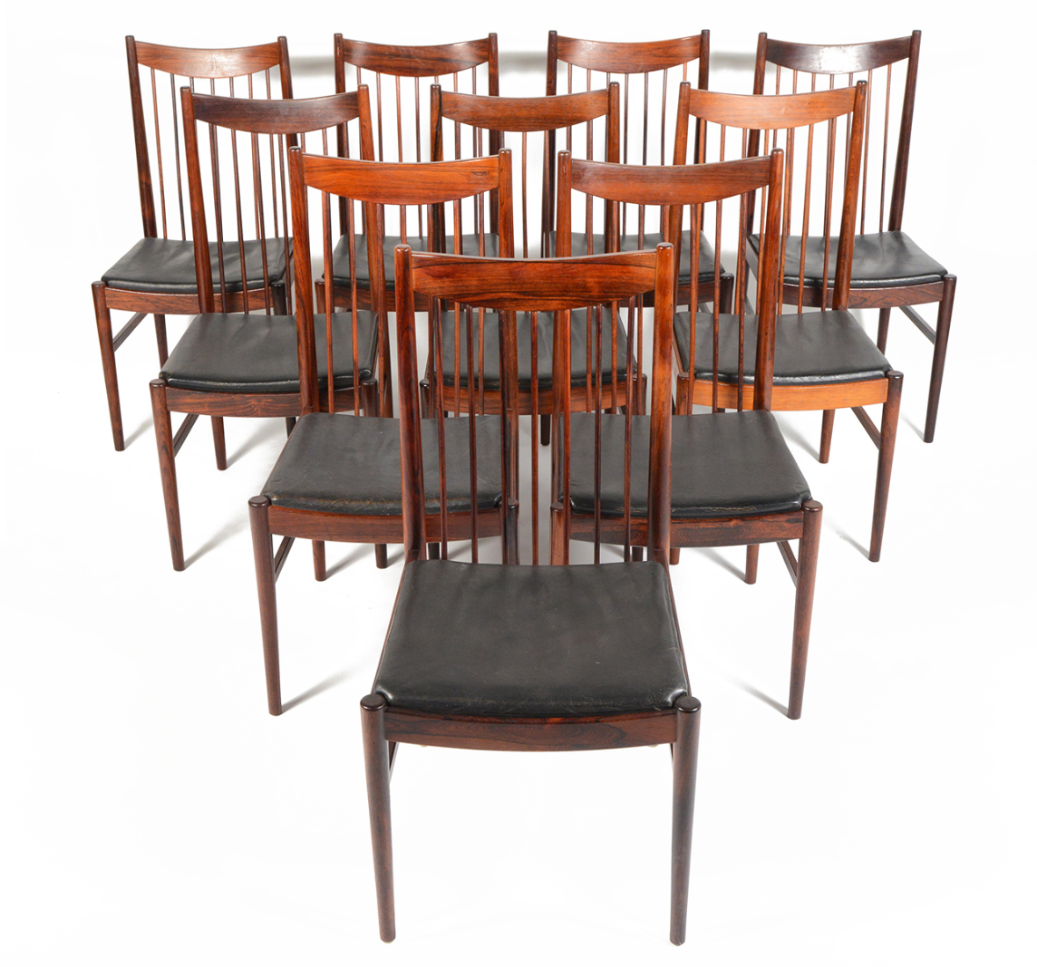 Details about 48 inch round formal duncan phyfe rosewood dining table - Arne Vodder Rosewood Dining Chairs Set Of 10 Chairish