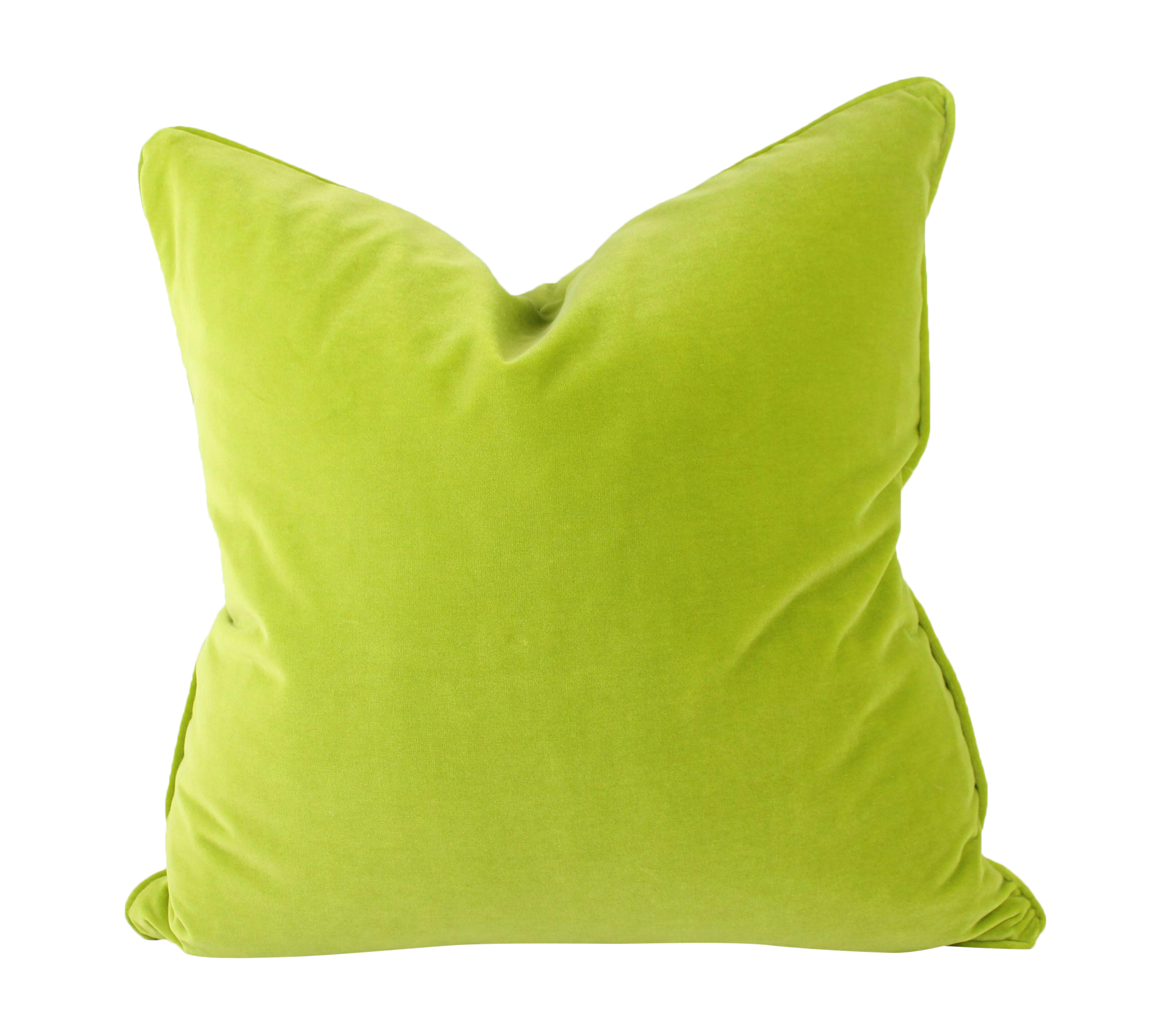 Citron Green Italian Velvet Pillows A Pair Chairish