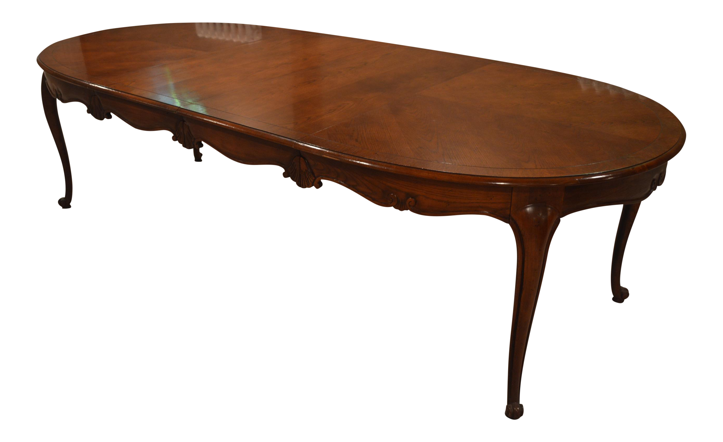 Century furniture classic style dining table chairish for Table 52 private dining