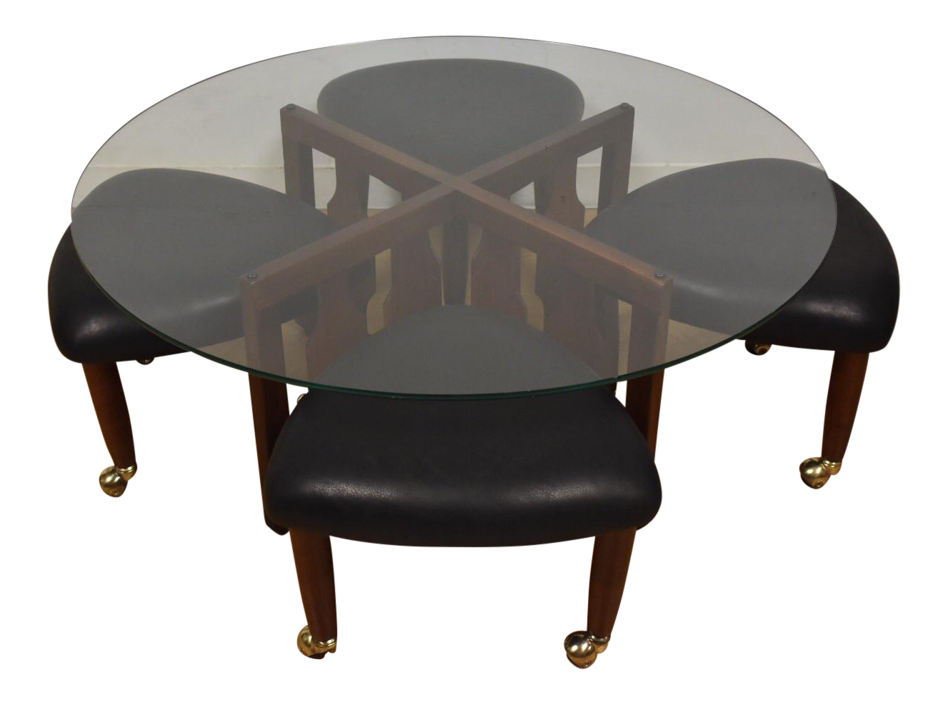 adrian pearsall coffee table & stools - set of 5 | chairish