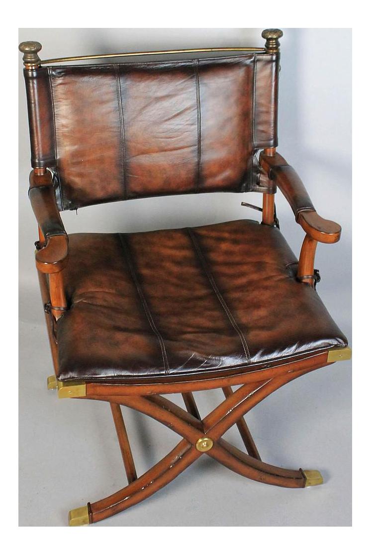vintage used office chairs chairish hemingway safari chair