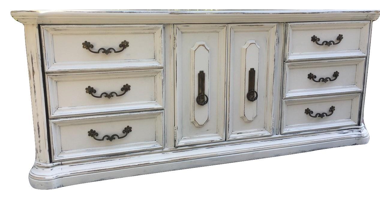 Image Of Stanley Furniture Shabby White Dresser