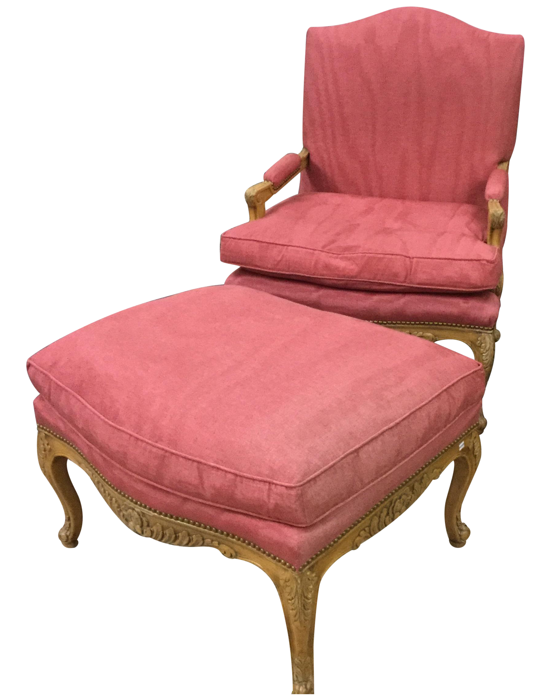 Bergere chair and ottoman - Image Of Vintage French Country Berg Re Chair Ottoman