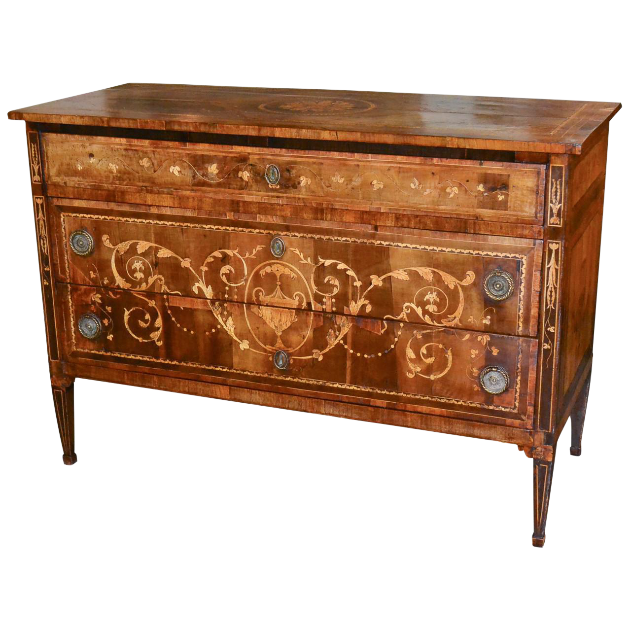 distinguished 18th century italian neoclassical commode decaso. Black Bedroom Furniture Sets. Home Design Ideas