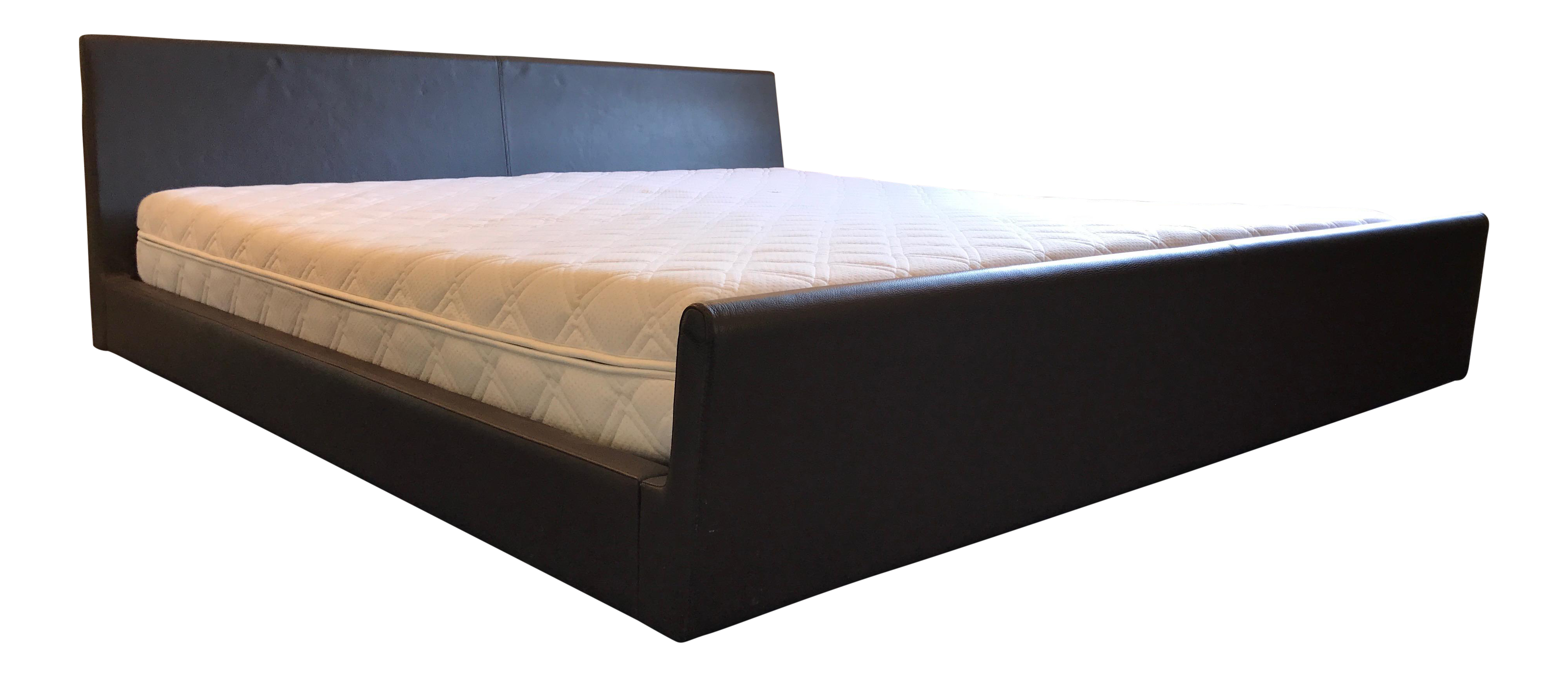 Loja Leather King Bed Final Markdown or It Goes to Goodwill