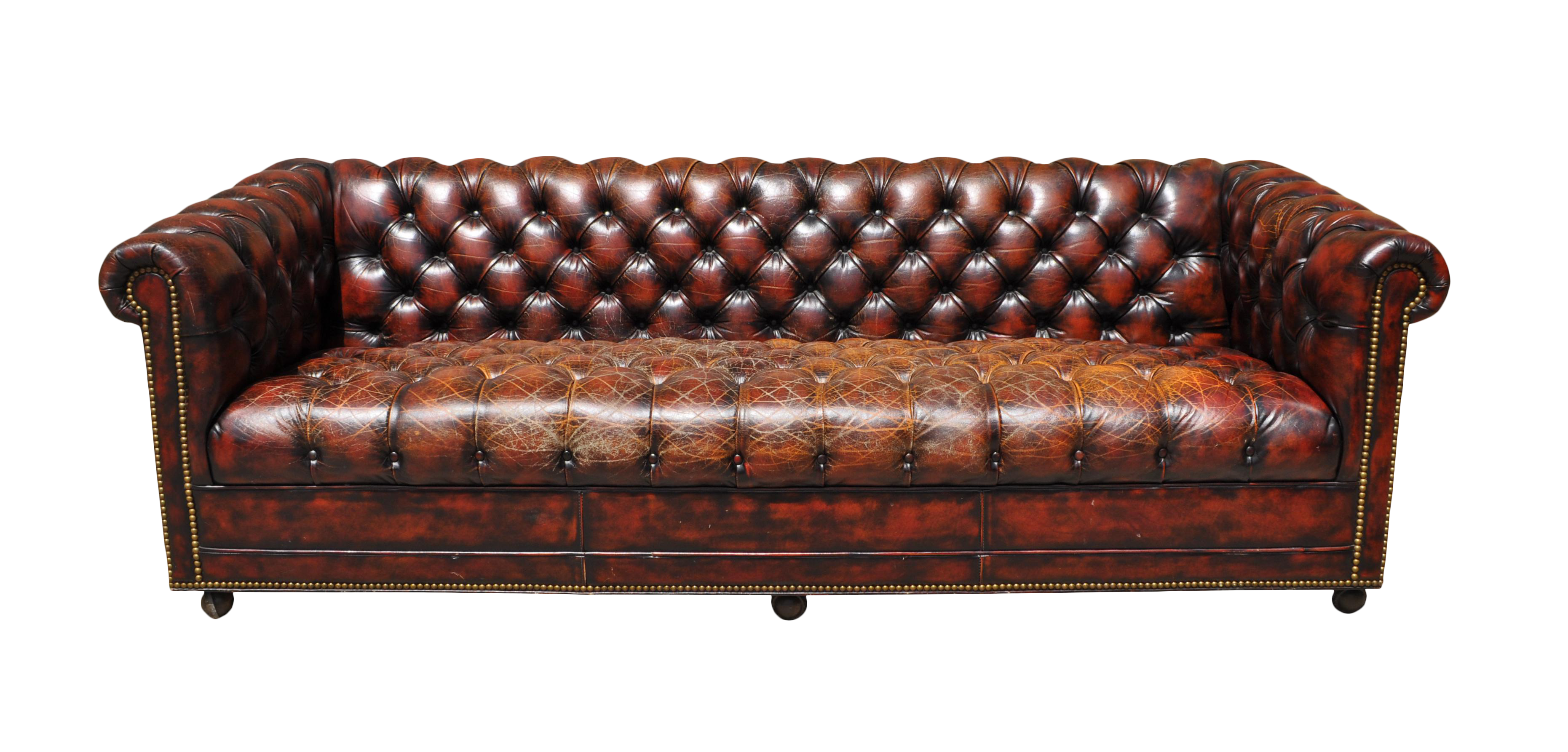 1940s original english oxblood chesterfield sofa chairish. Black Bedroom Furniture Sets. Home Design Ideas