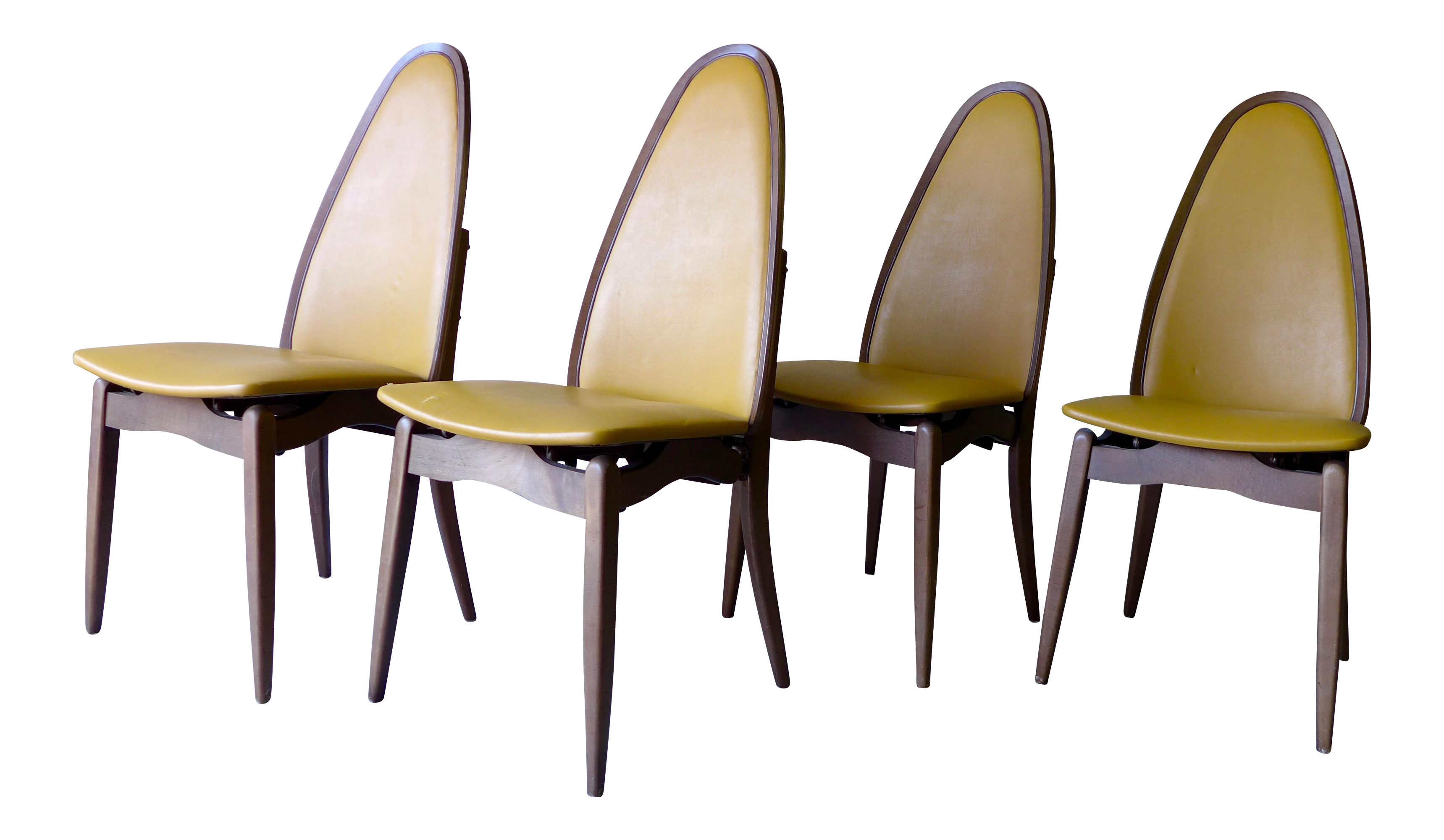 stakmore mid century folding dining chairs set of 4