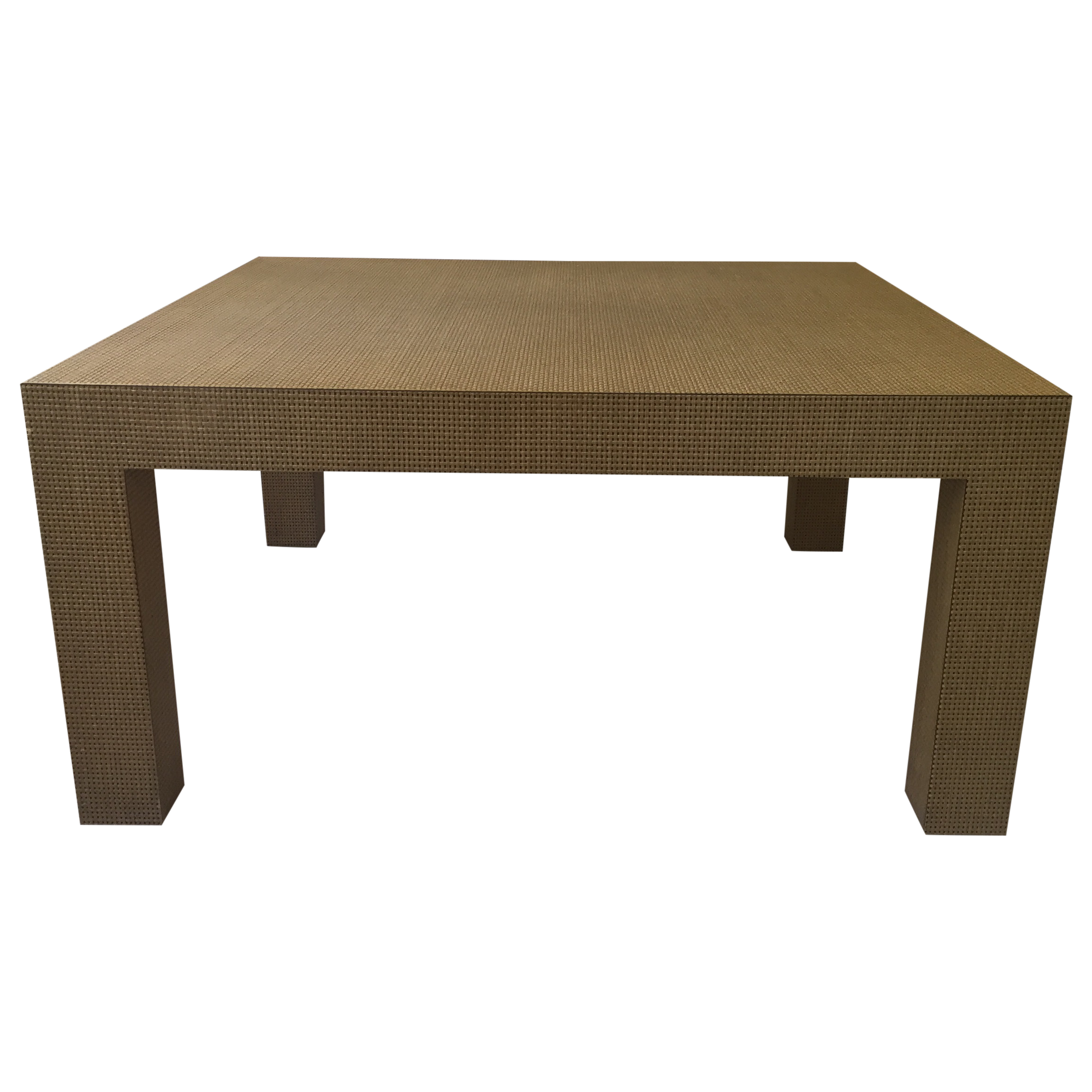 Woven Parsons Coffee Table