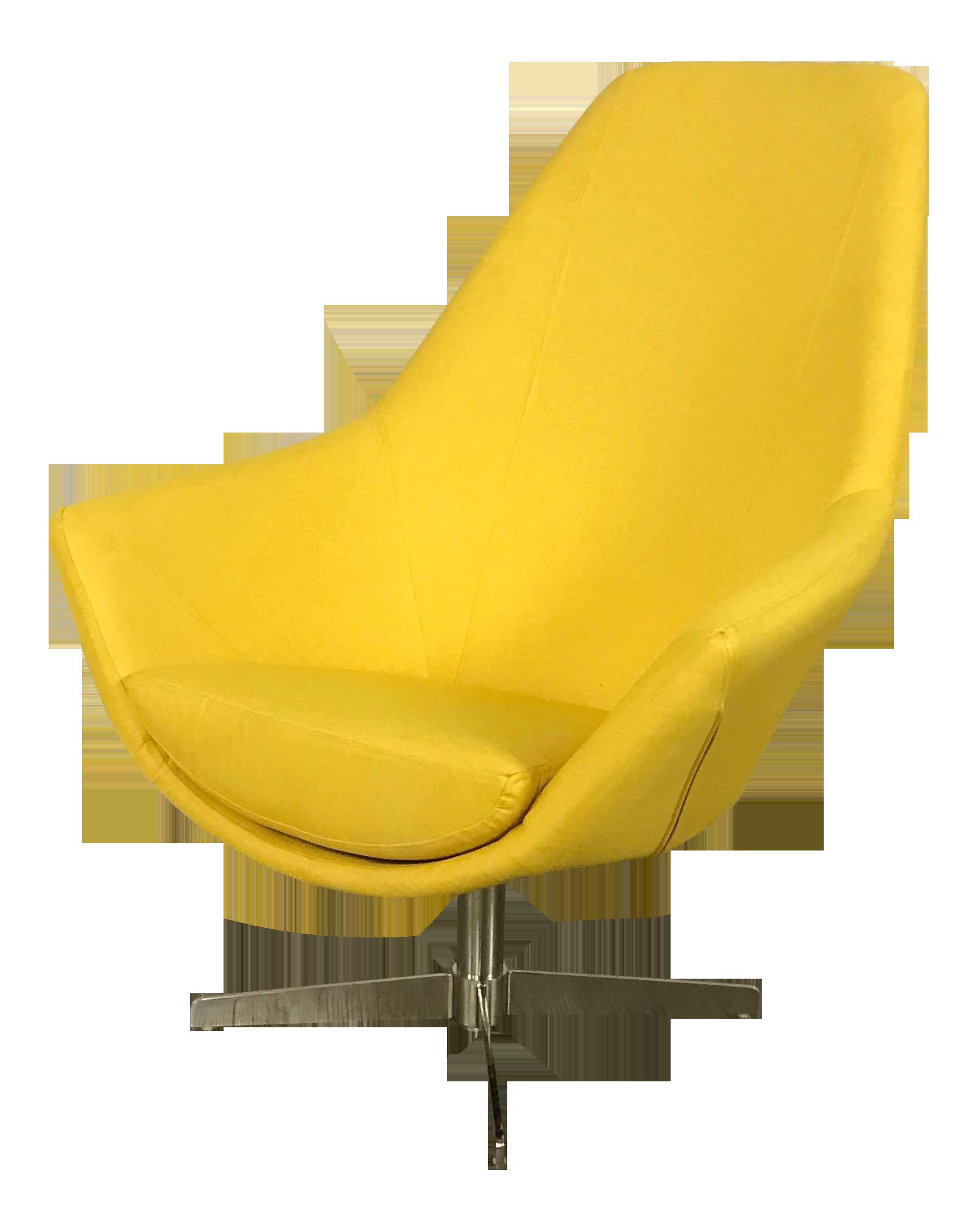 Image of Modani Modern Yellow Lounge ChairModani Modern Yellow Lounge Chair   Chairish. Modern Yellow Lounge Chair. Home Design Ideas