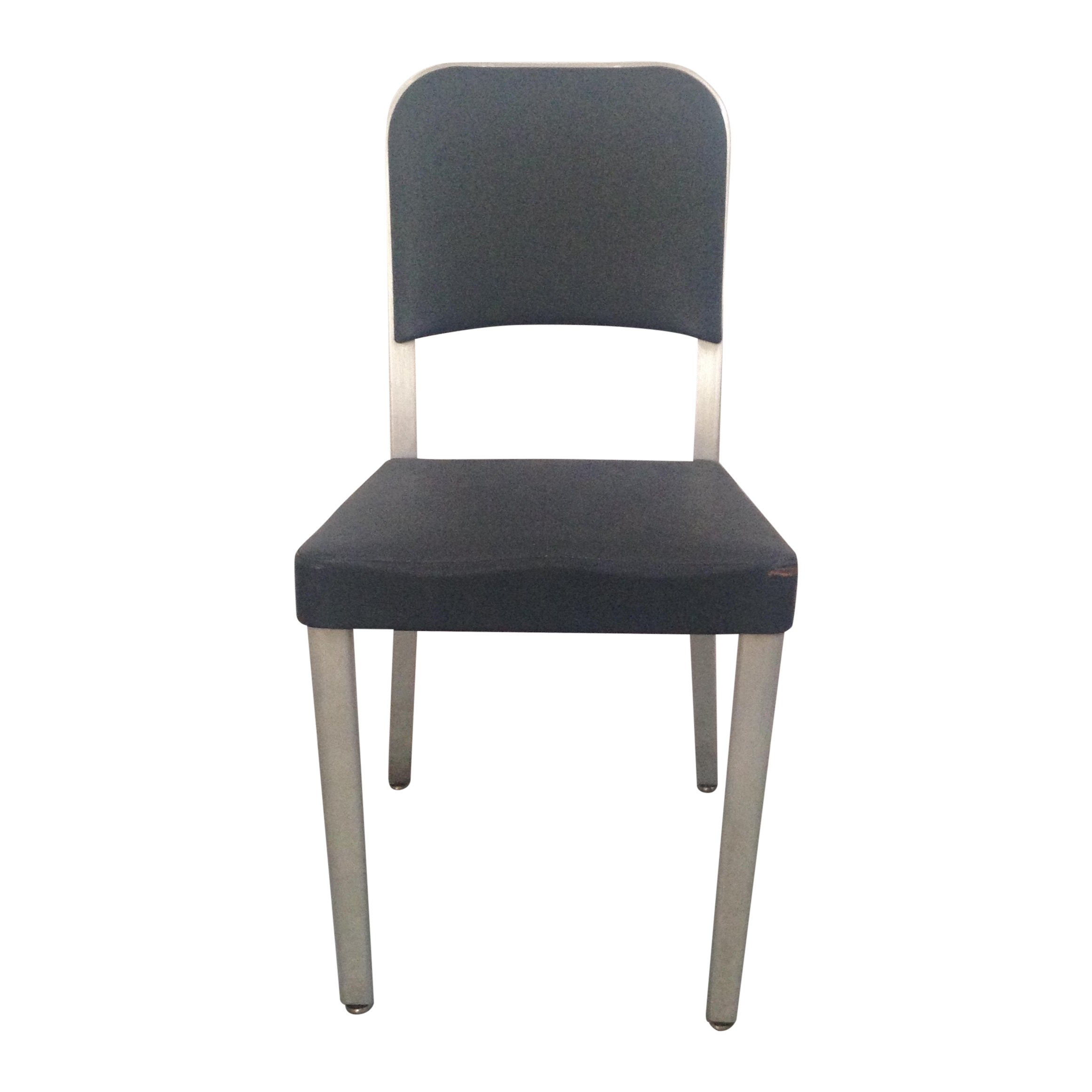 Emeco Mid Century Brushed Aluminum Side Chair Chairish