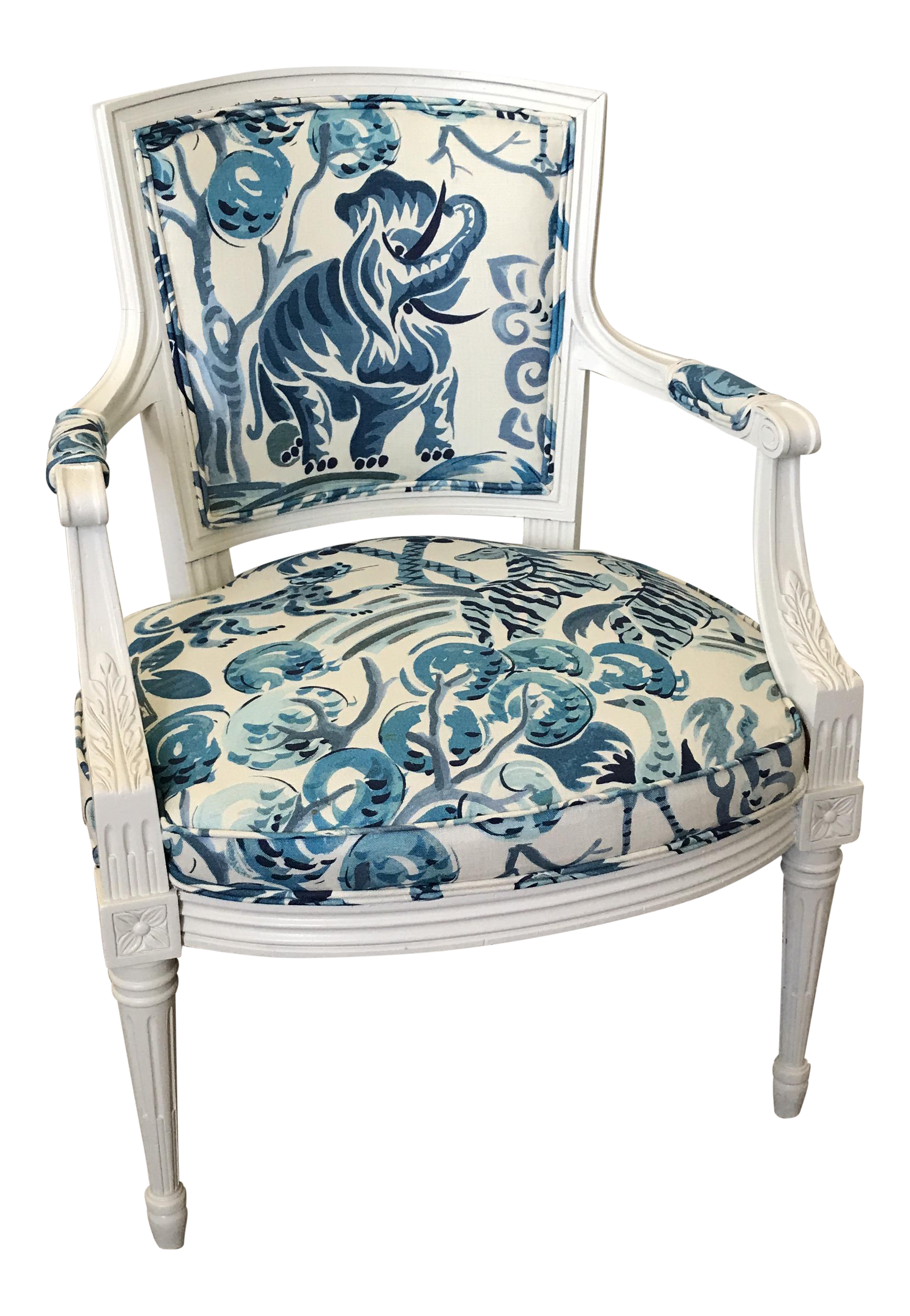 Louis XVI Style Clarence House Congo Upholstered Chair