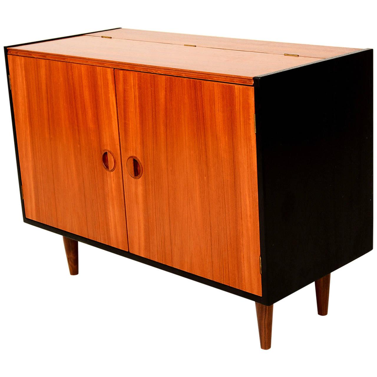 Mid century modern teak storage cabinet chairish for Modern teak kitchen cabinets