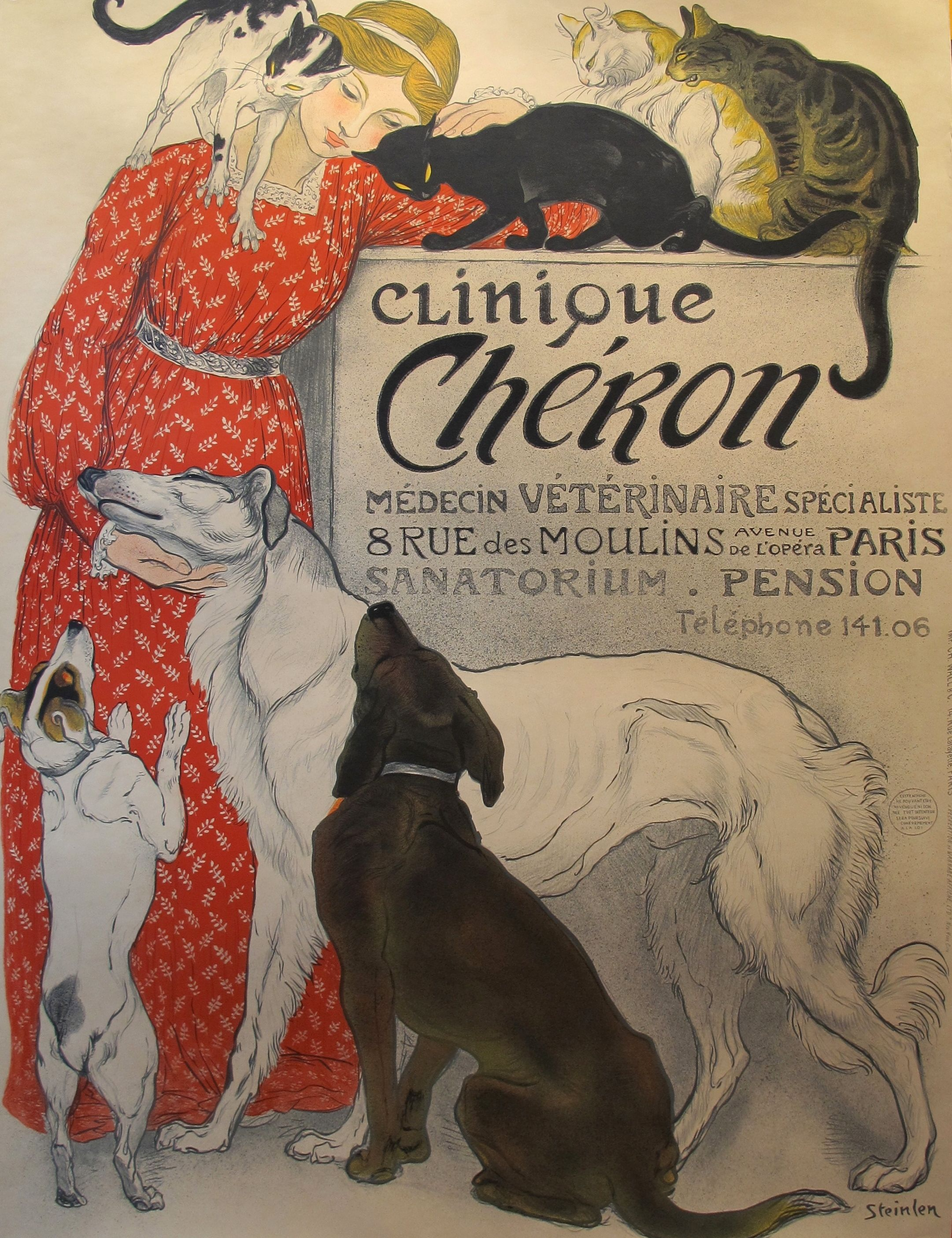 Steinlen Clinique Cheron Art Print Poster Chairish