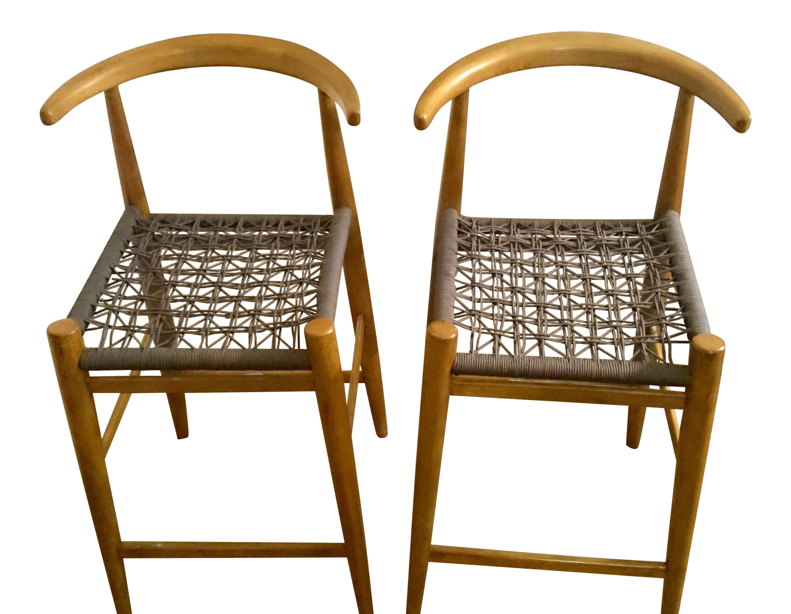 John Vogel Counter Stools A Pair Chairish