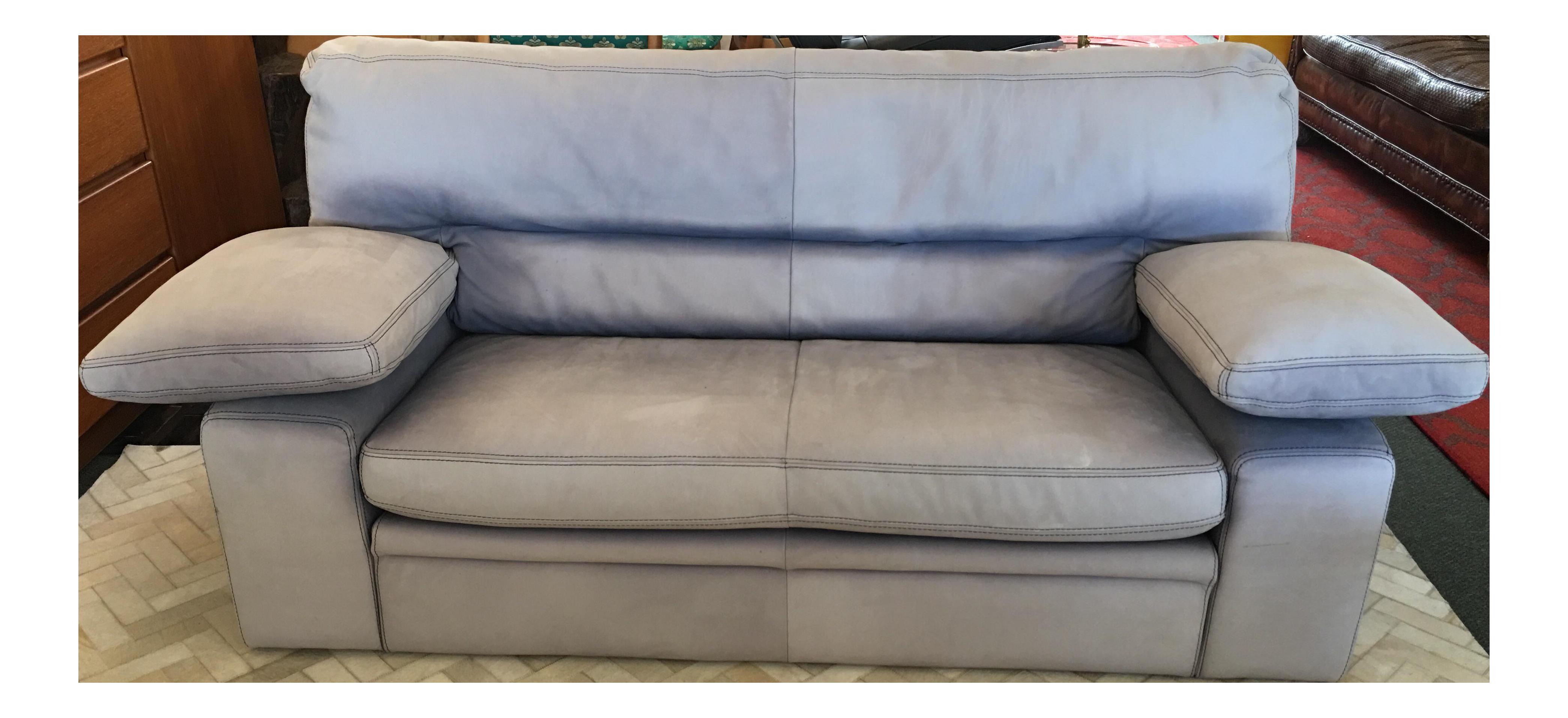 vintage roche bobois leather sofa chairish. Black Bedroom Furniture Sets. Home Design Ideas