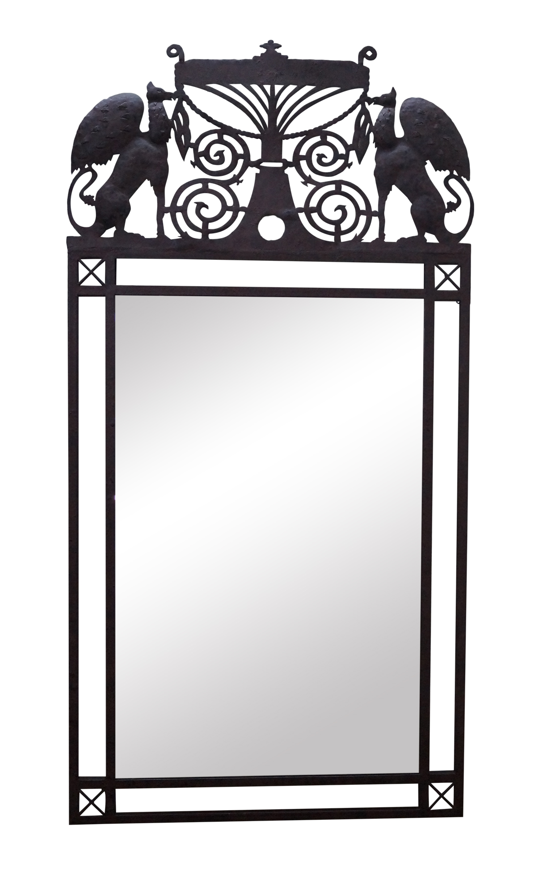 Vintage used gothic wall mirrors chairish medieval gothic custom iron frame wall mirror amipublicfo Gallery