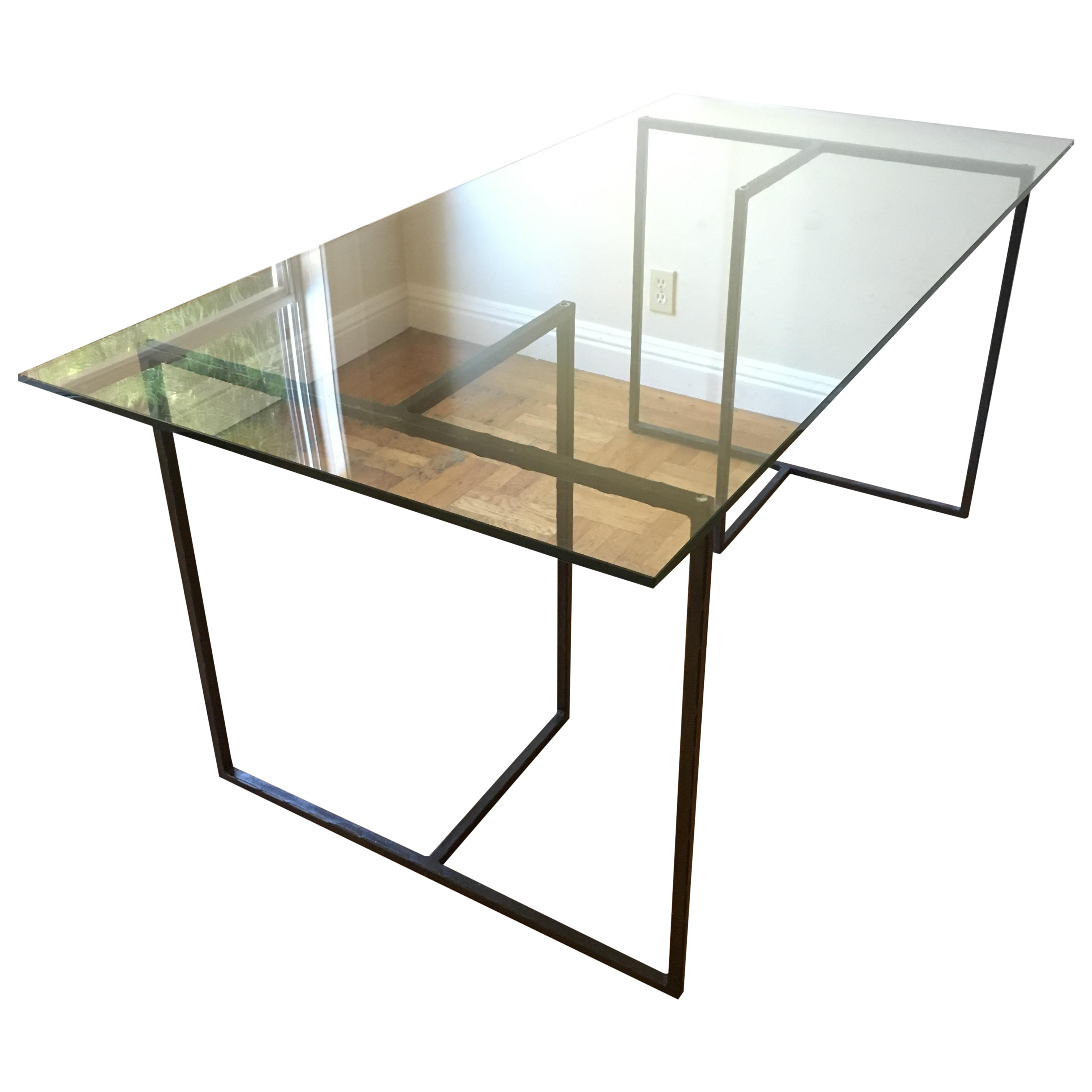 Crate And Barrel Glass Dining Table Crate Barrel Glass Modern Dining Table Desk Chairish