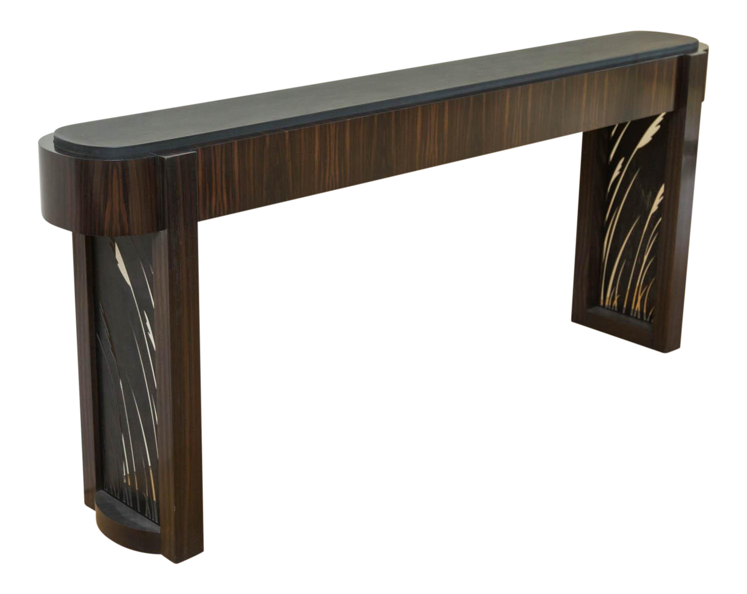 Fine macassar ebony and patinated steel console table by gregory fine macassar ebony and patinated steel console table by gregory clark decaso geotapseo Image collections