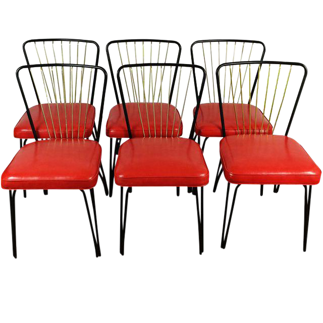 Lloyd Heywood Wakefield Dinette Chairs Set Of 6 Chairish