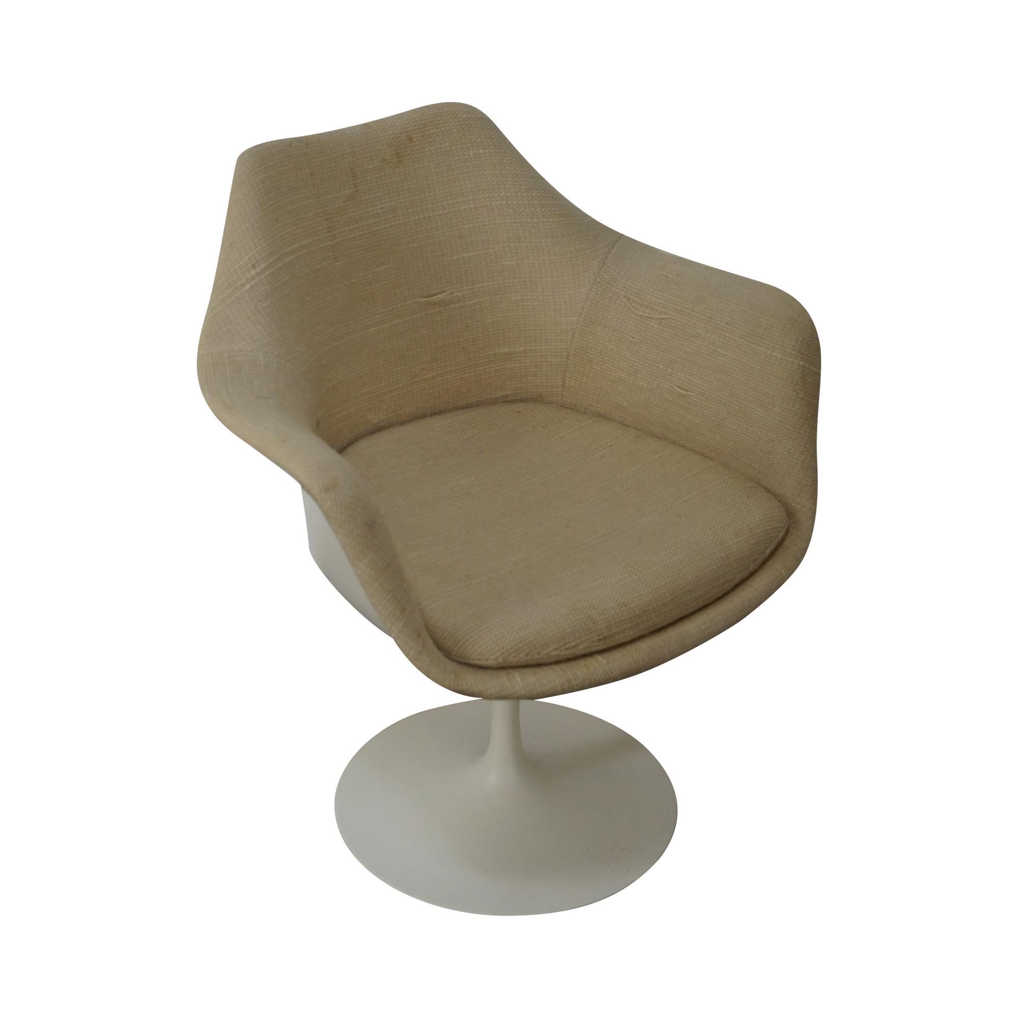 knoll eero saarinen vintage tulip arm chair chairish