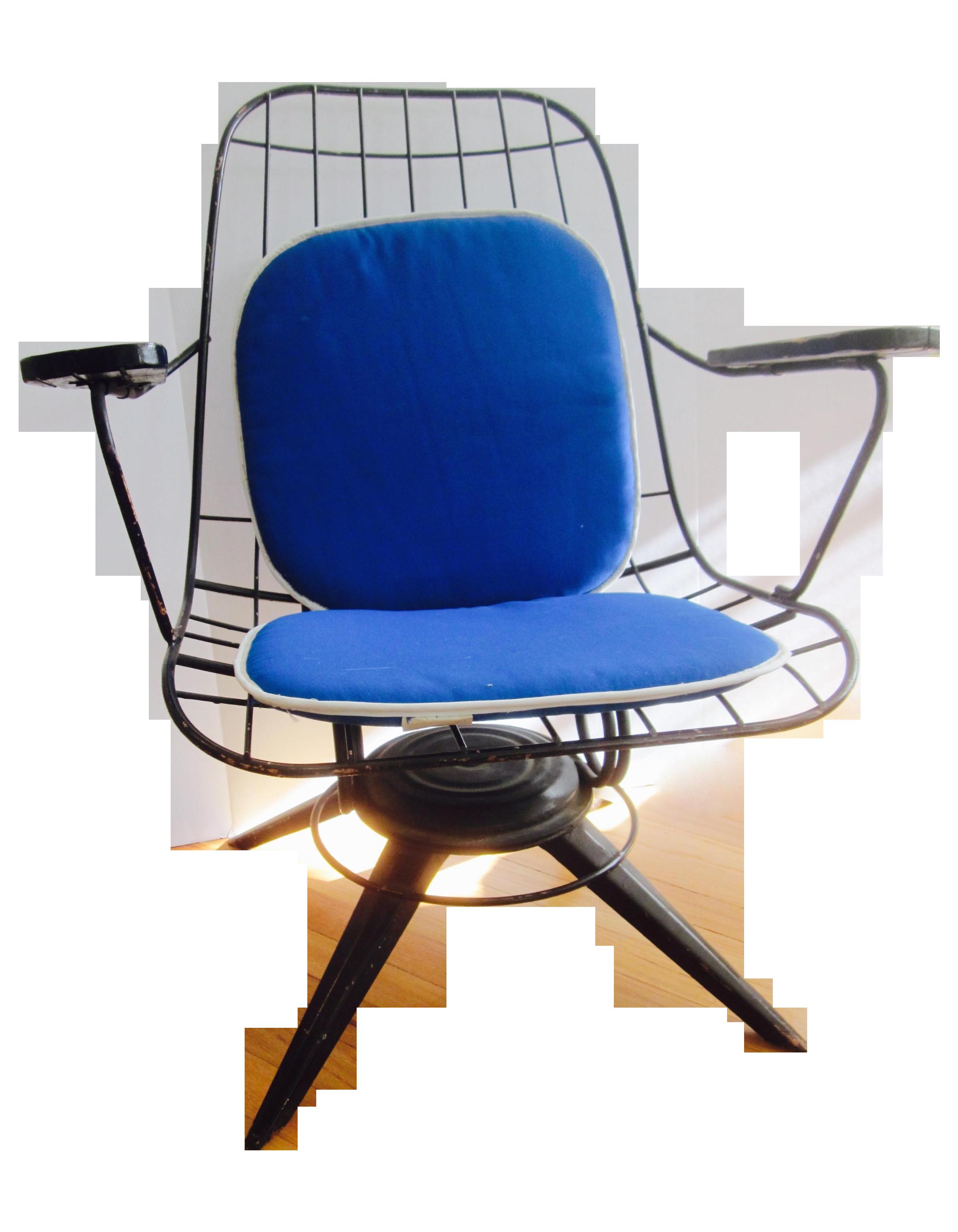 mid century modern homecrest swivel chair cushion chairish