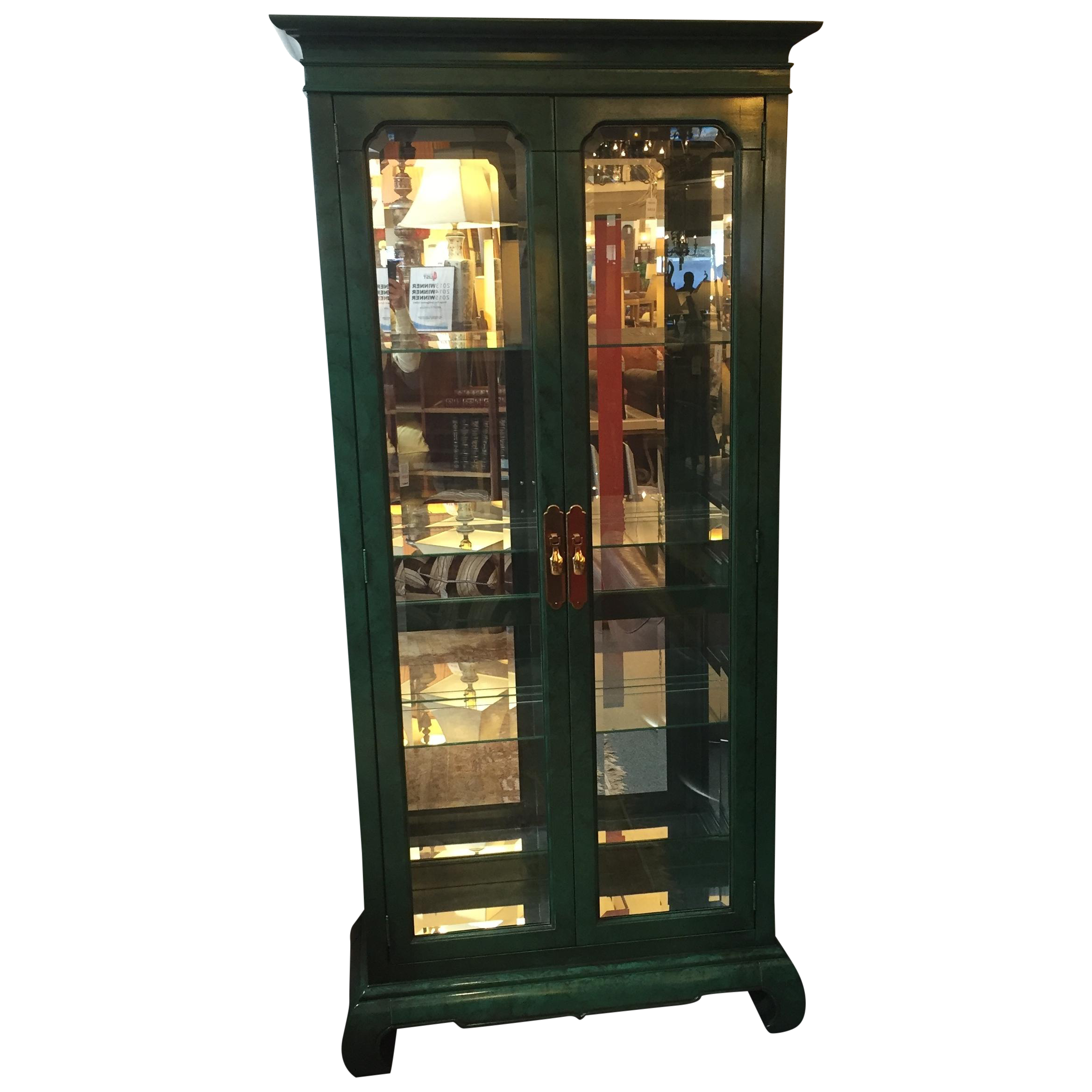 Emerald Curio Cabinet By American Of Martinsville Chairish