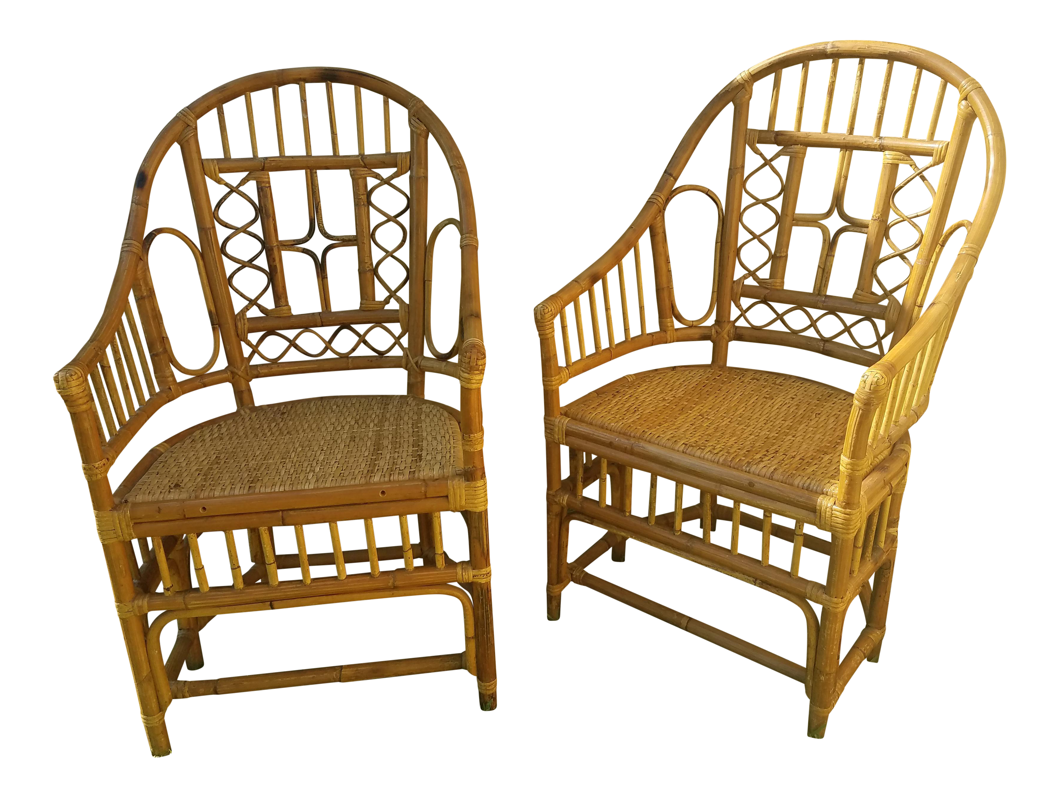Brighton Pavilion Tortoise Bamboo Chairs A Pair