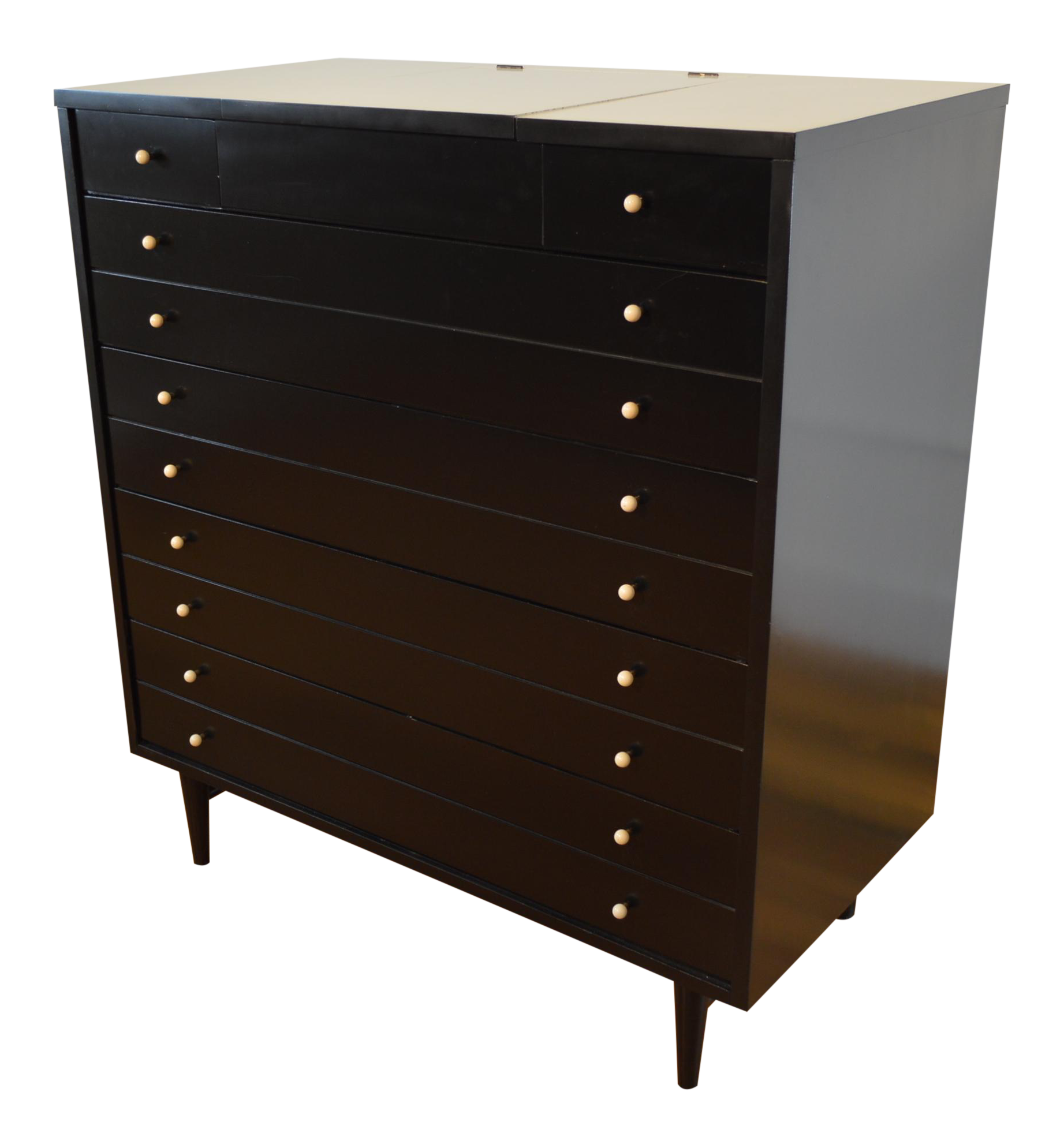 side cabinet american of martinsville ebonized chest of drawers with 26114