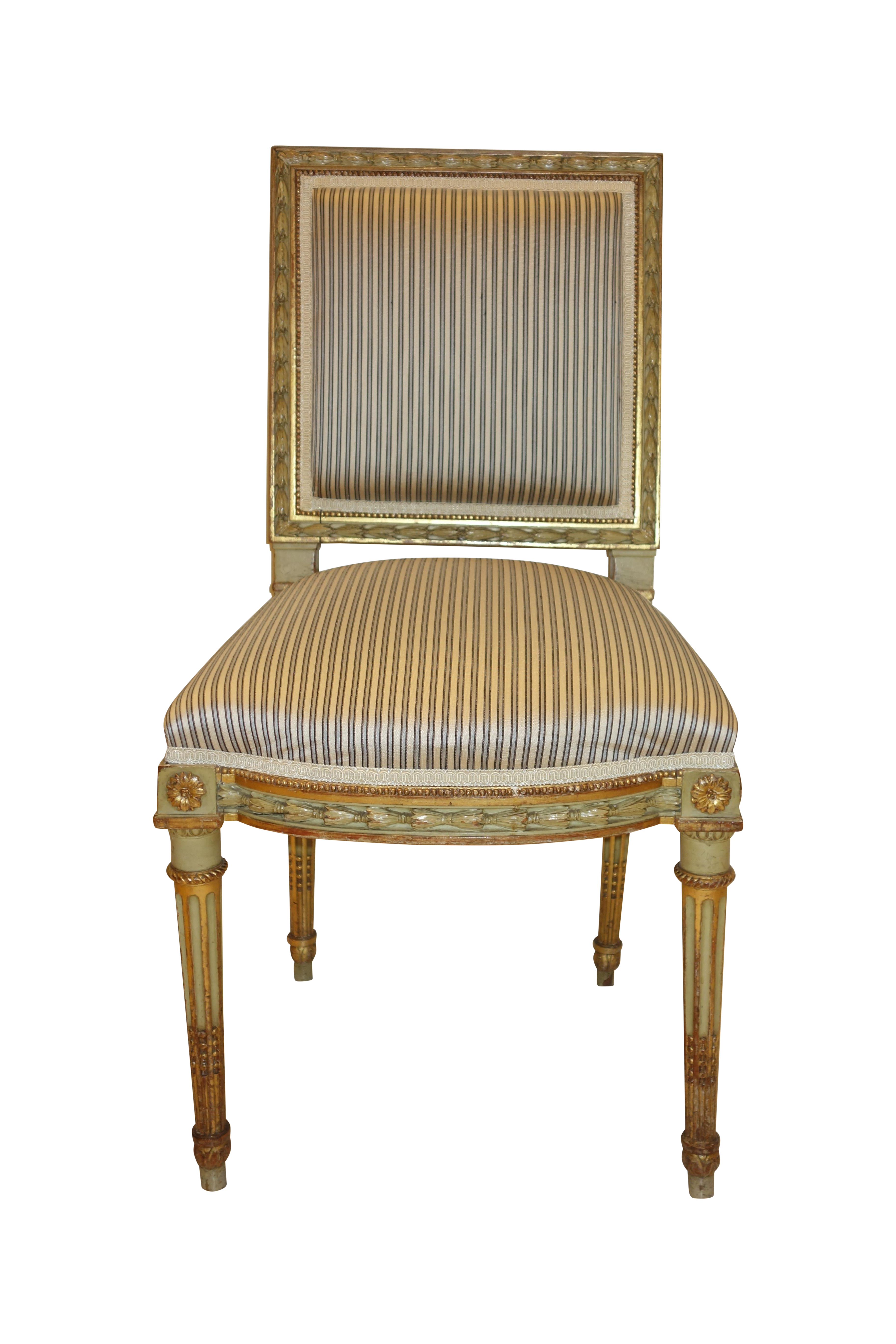 Antique Louis XVI Style Side Chairs A Pair