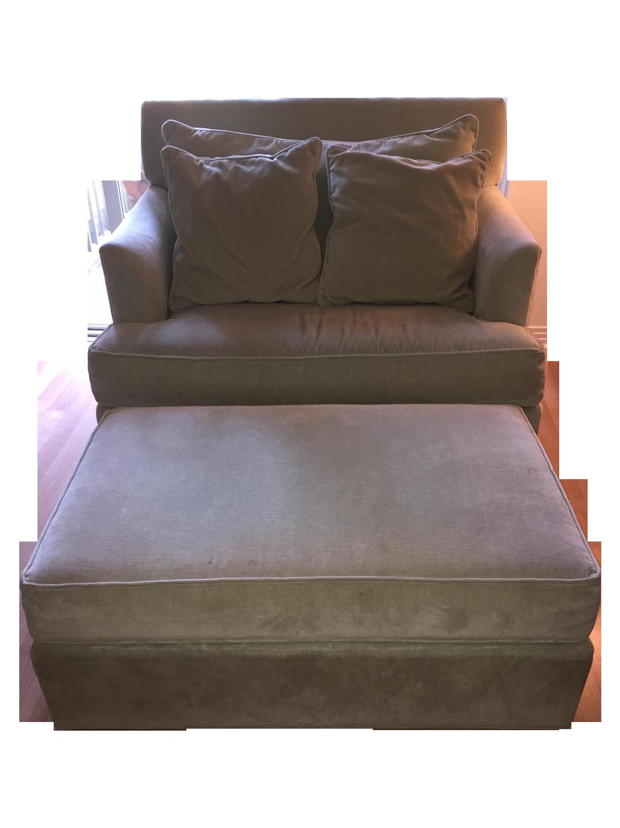 Ethan Allen Chair and a Half & Ottoman
