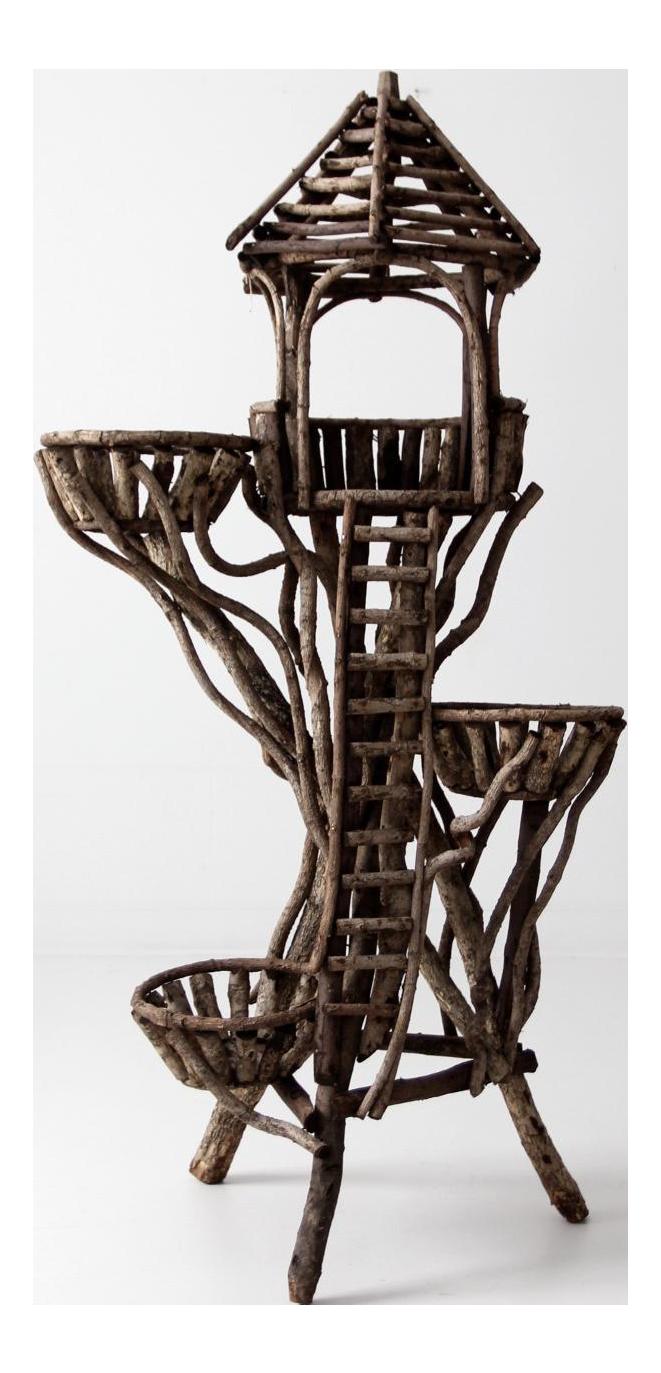 Vintage Twig Art Plant Stand Chairish