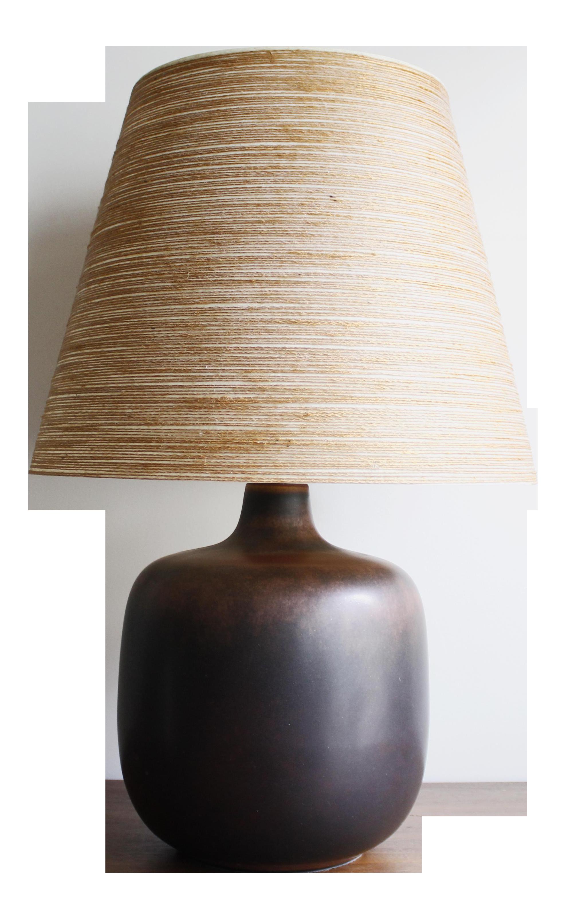 Modern ceramic table lamps - Image Of Lotte Bostlund Ceramic Table Lamp Brown Mid Century Modern Danish Modern
