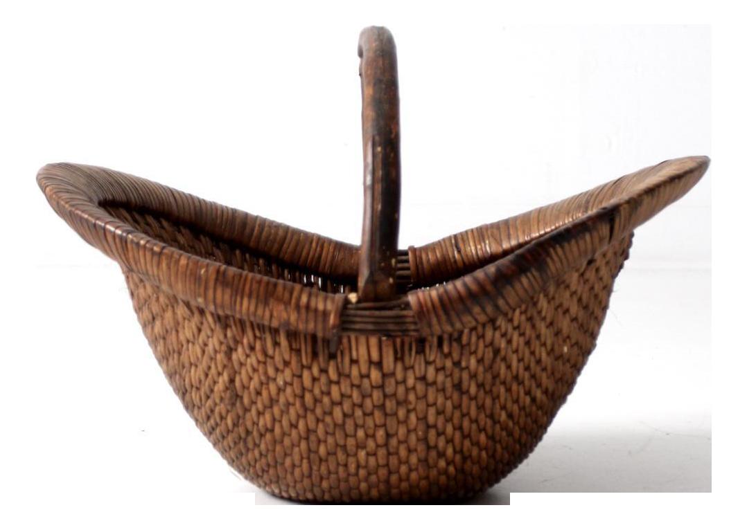 antique chinese willow basket chairish
