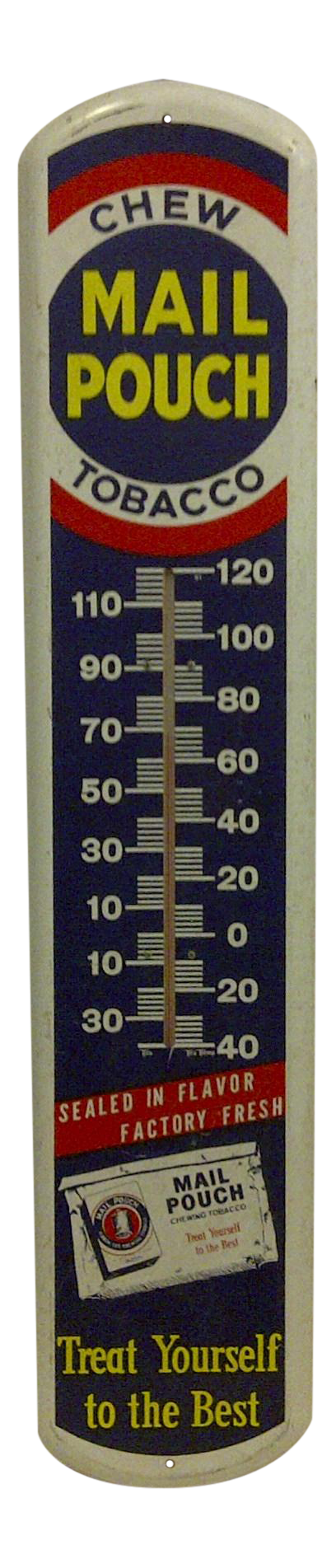 Vintage Metal Quot Mail Pouch Quot Advertising Thermometer Chairish