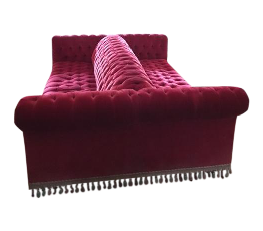 Velvet Double Sided Couch Chairish