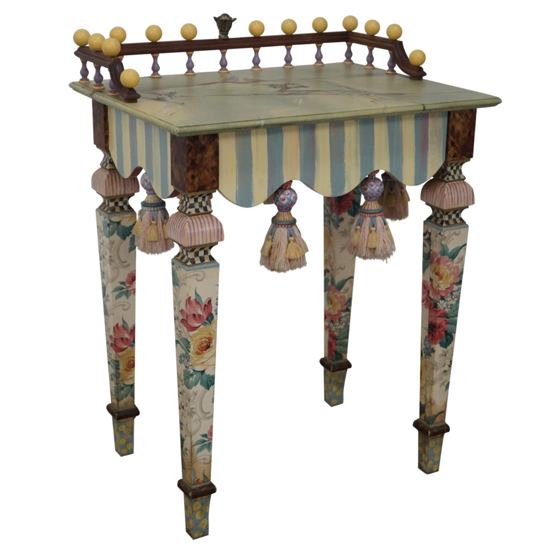Mackenzie Childs Hand Painted Side Table Chairish