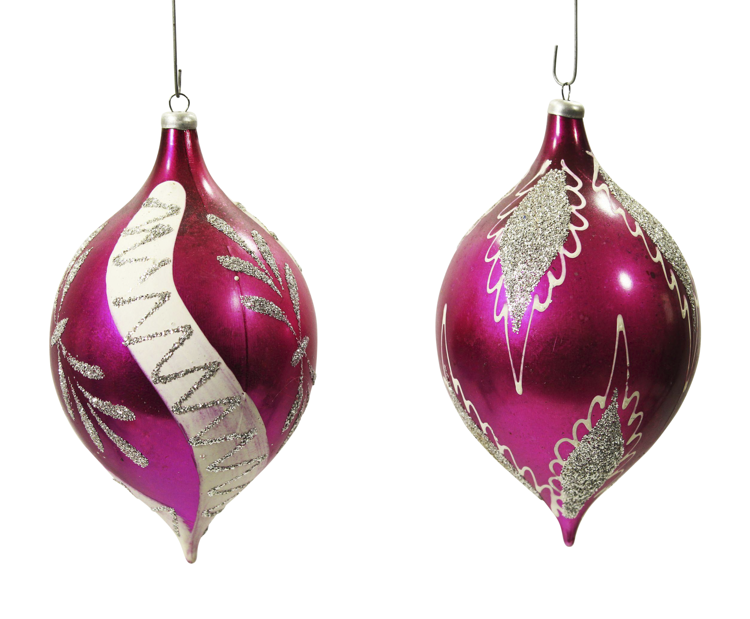 Rare Vintage Teardrop Christmas Ornaments A Pair Chairish
