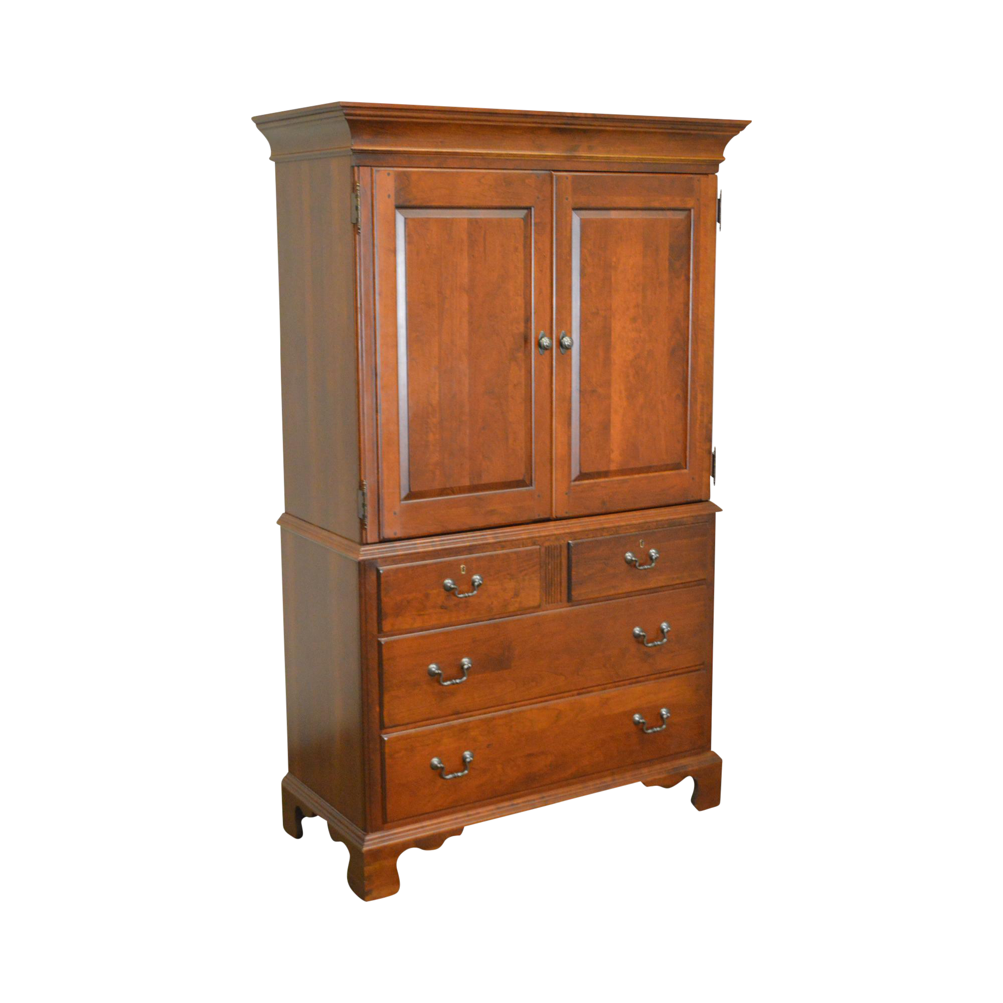 Pennsylvania House Traditional Cherry Wood Bedroom Armoire Cabinet Chairish