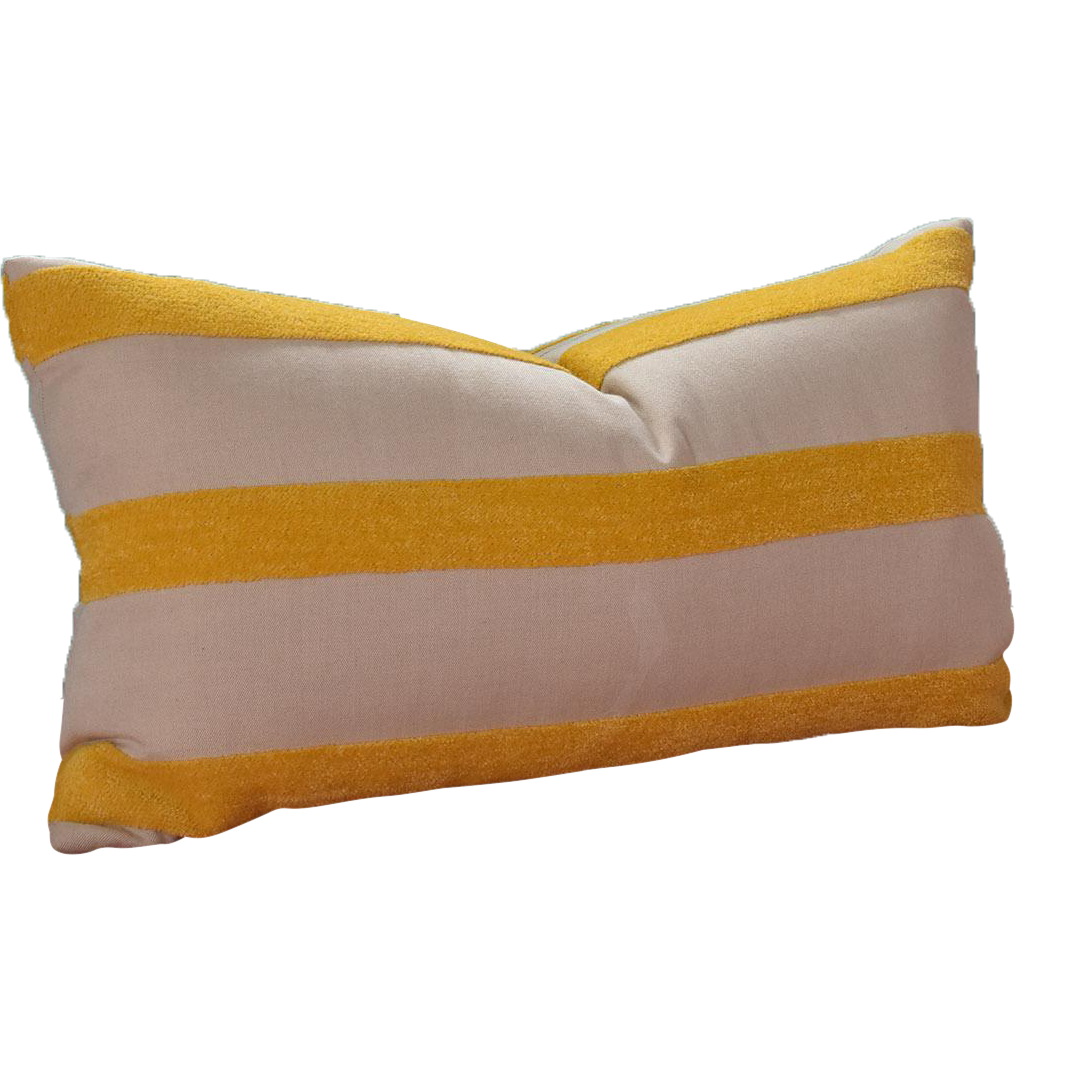 Yellow Striped Throw Pillows : Custom Yellow Striped Throw Pillow Chairish
