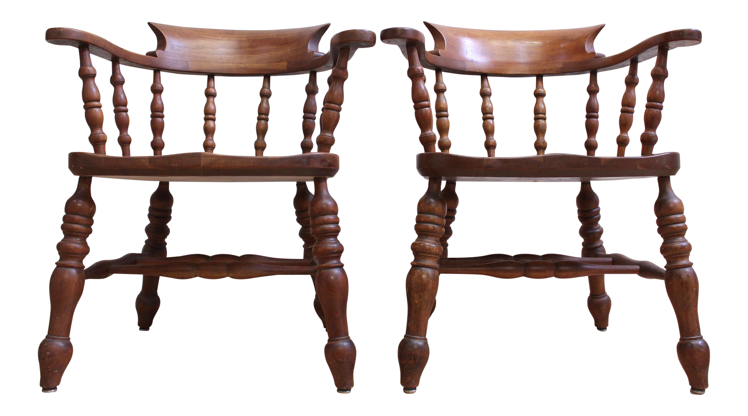 L & JG Stickley Colonial Cherry Valley Captain s Chairs A Pair